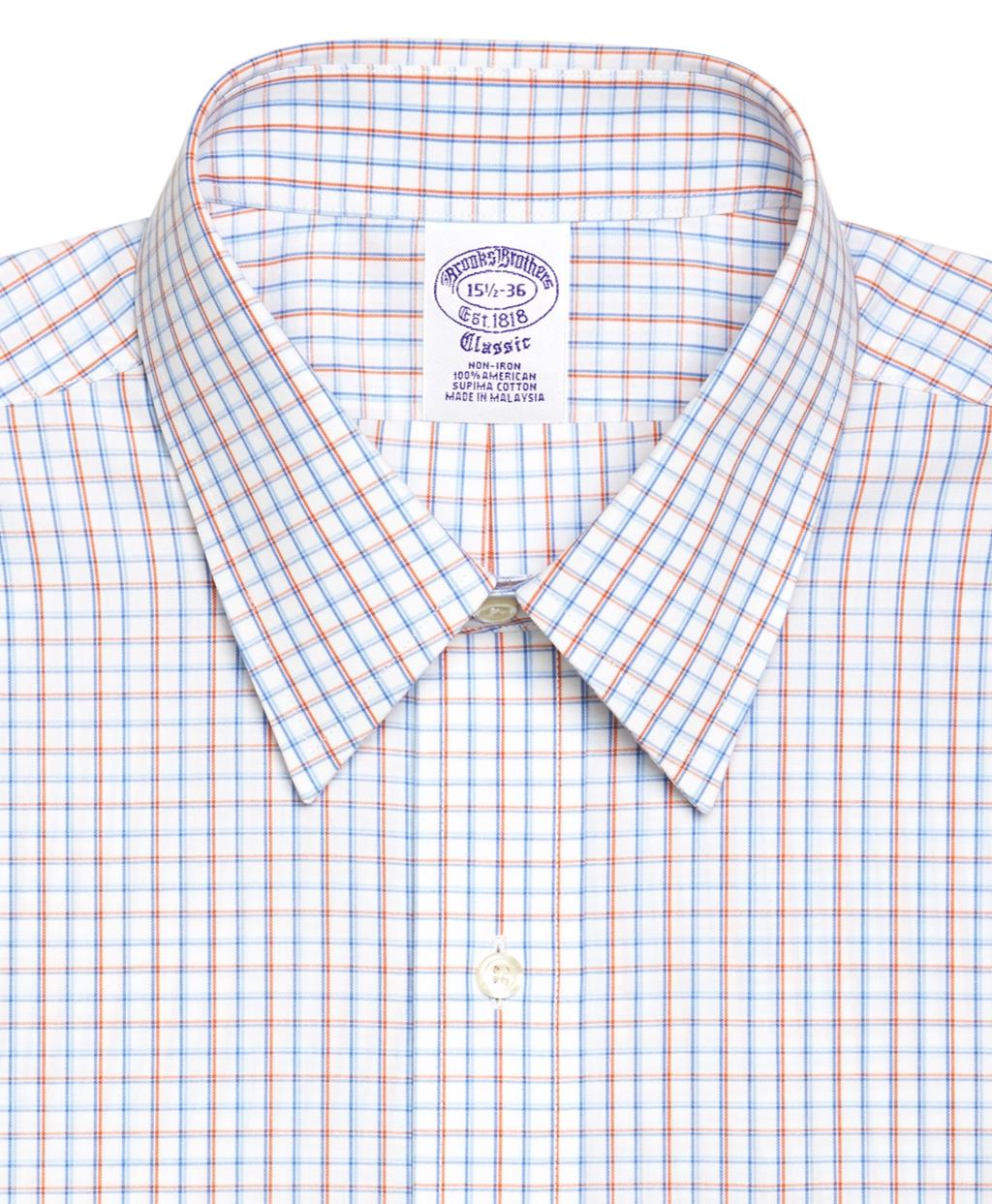 Brooks brothers supima cotton noniron regular fit point for Supima cotton dress shirts