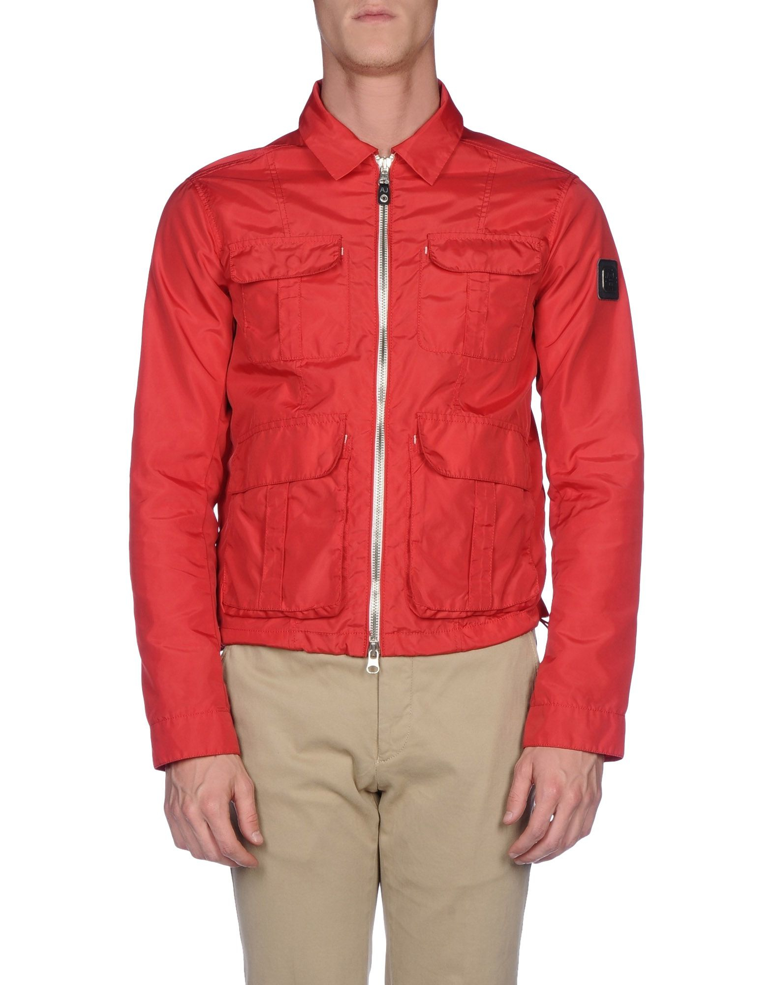 lyst armani jeans jacket in red for men. Black Bedroom Furniture Sets. Home Design Ideas