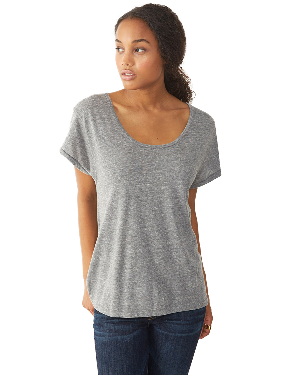 alternative apparel dreamer eco jersey t shirt in gray lyst