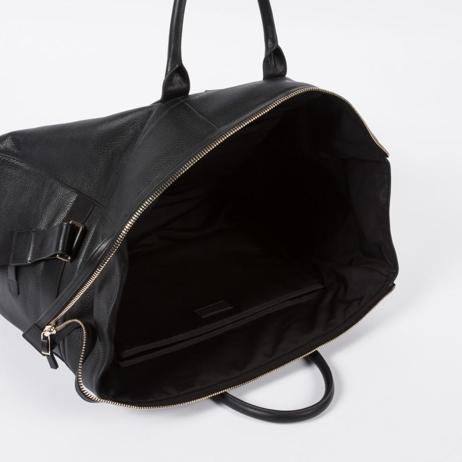 Black Leather Holdall Bag Mens- Fenix Toulouse Handball 4111c19aa7535