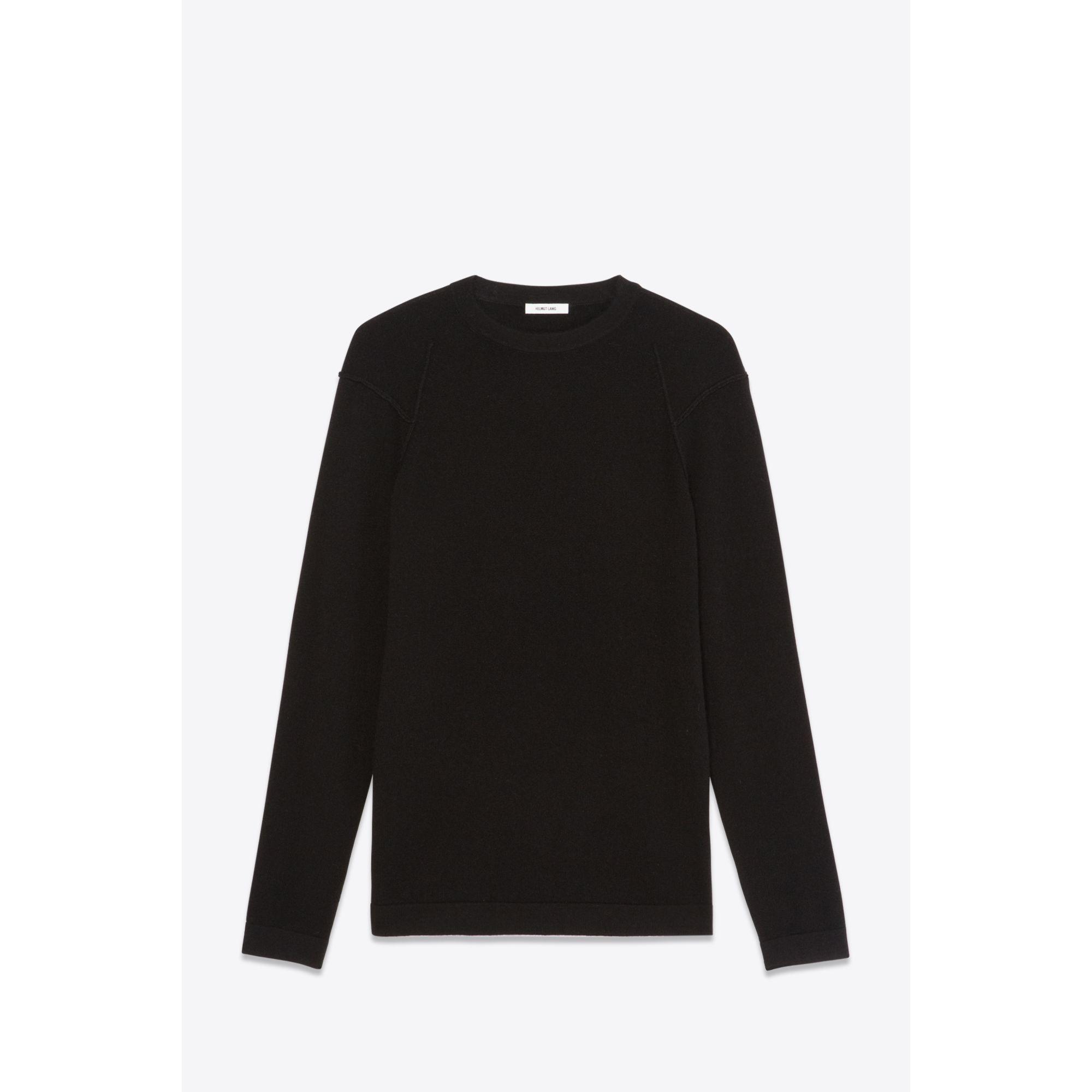 Helmut lang Cashmere Crewneck Sweater in Black for Men | Lyst