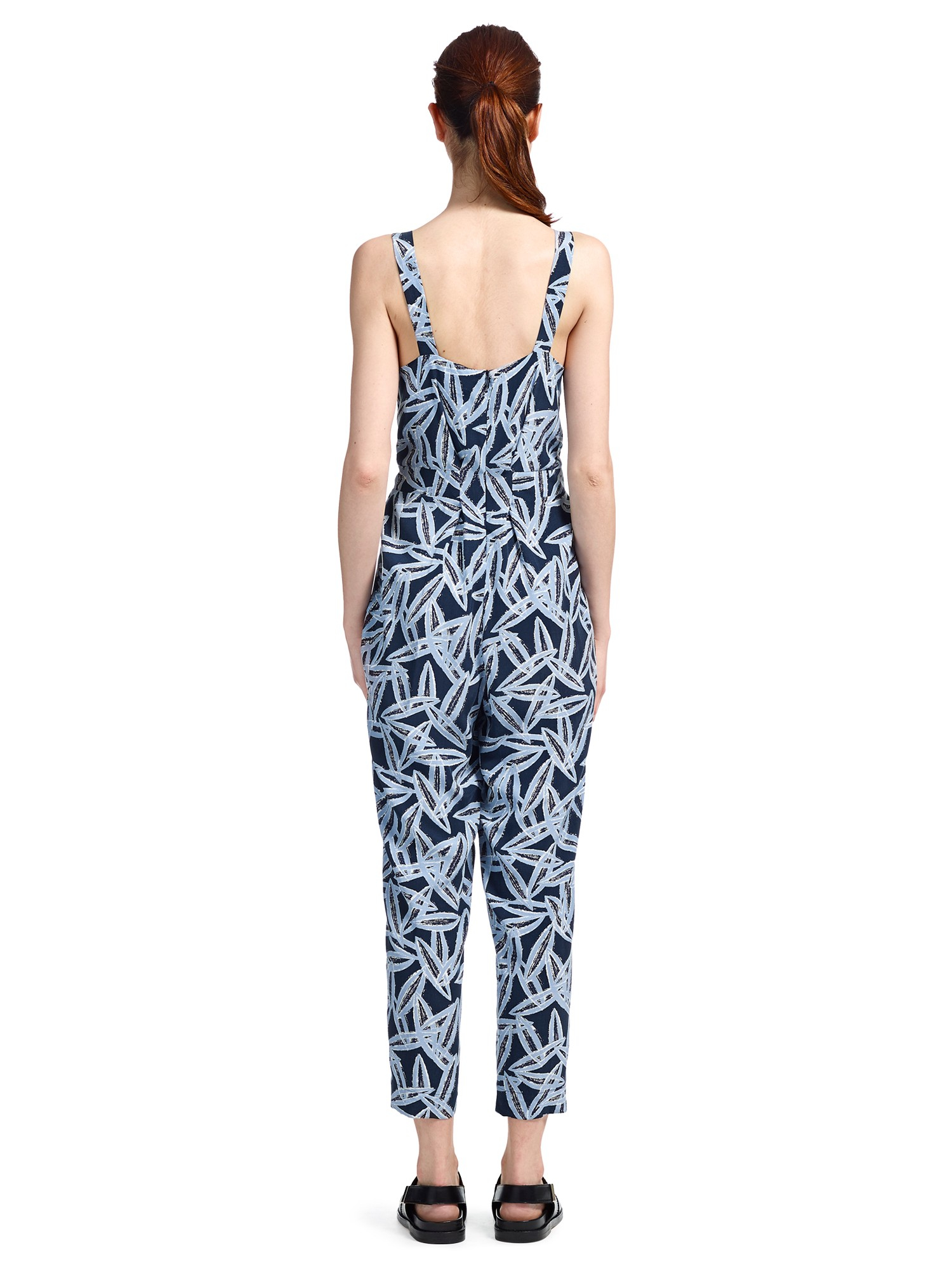 78ec99aa9ae Whistles Maisie Coco Bean Jumpsuit in Blue - Lyst