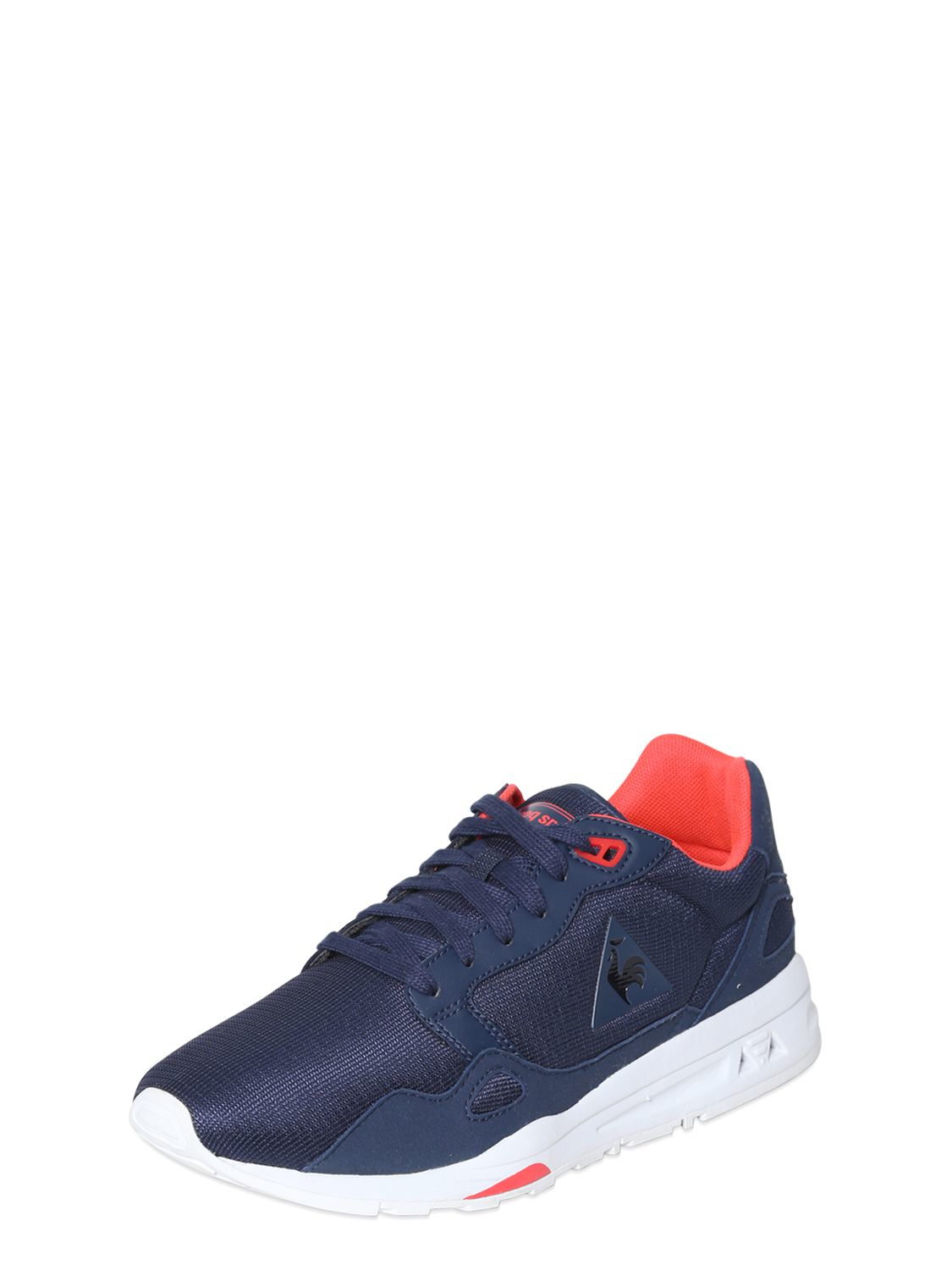 le coq sportif lcs 900 mesh faux leather sneakers in blue lyst. Black Bedroom Furniture Sets. Home Design Ideas