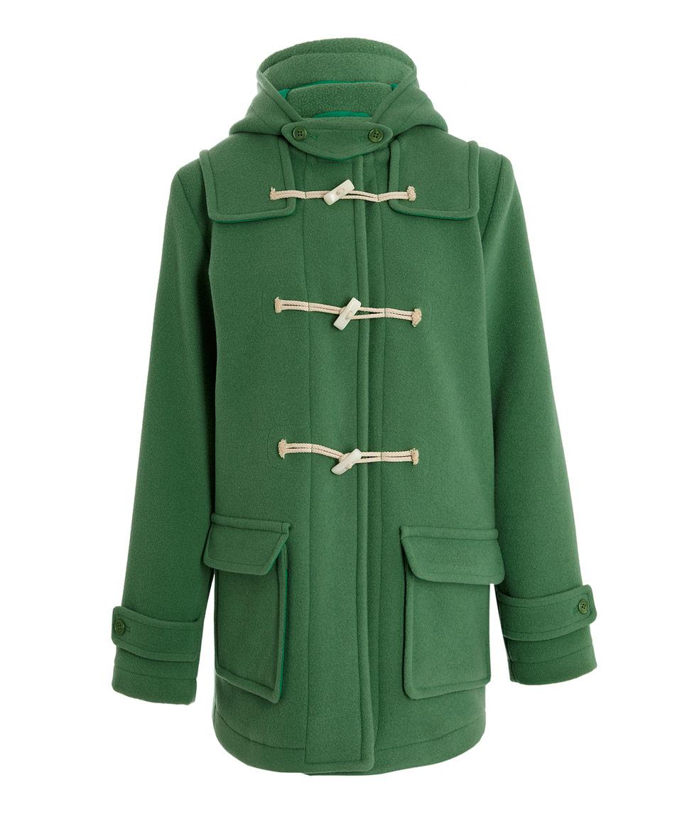 Ymc Green Duffle Coat in Green | Lyst