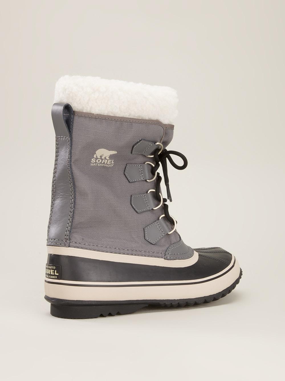 Sorel Winter Carnival Boot In Gray Grey Lyst