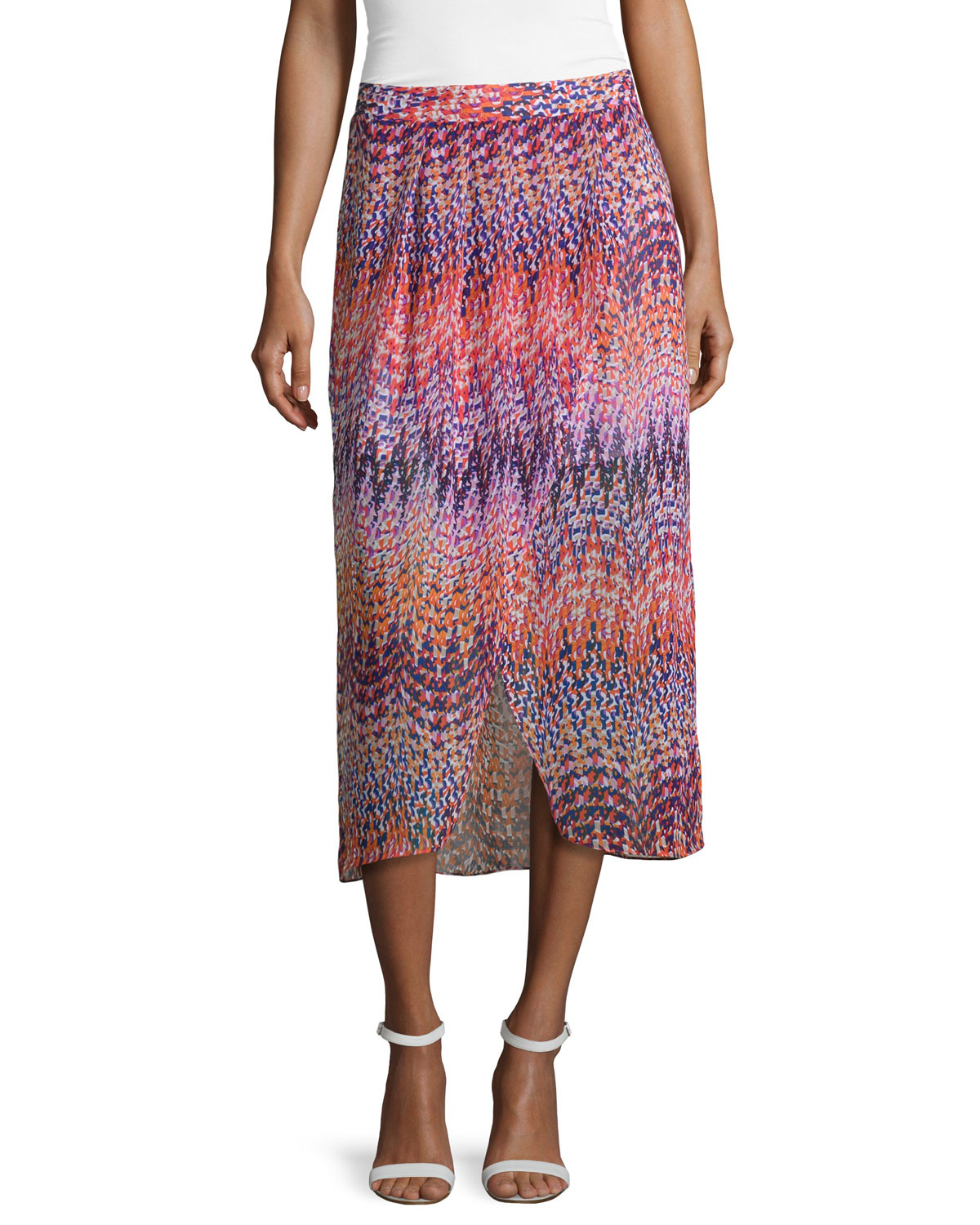 laundry by shelli segal pleated printed tulip skirt in