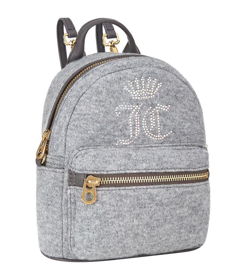 Juicy By Juicy Couture Metallic Embossed Logo Mini Backpack - Silver Juicy Couture jTUlYg