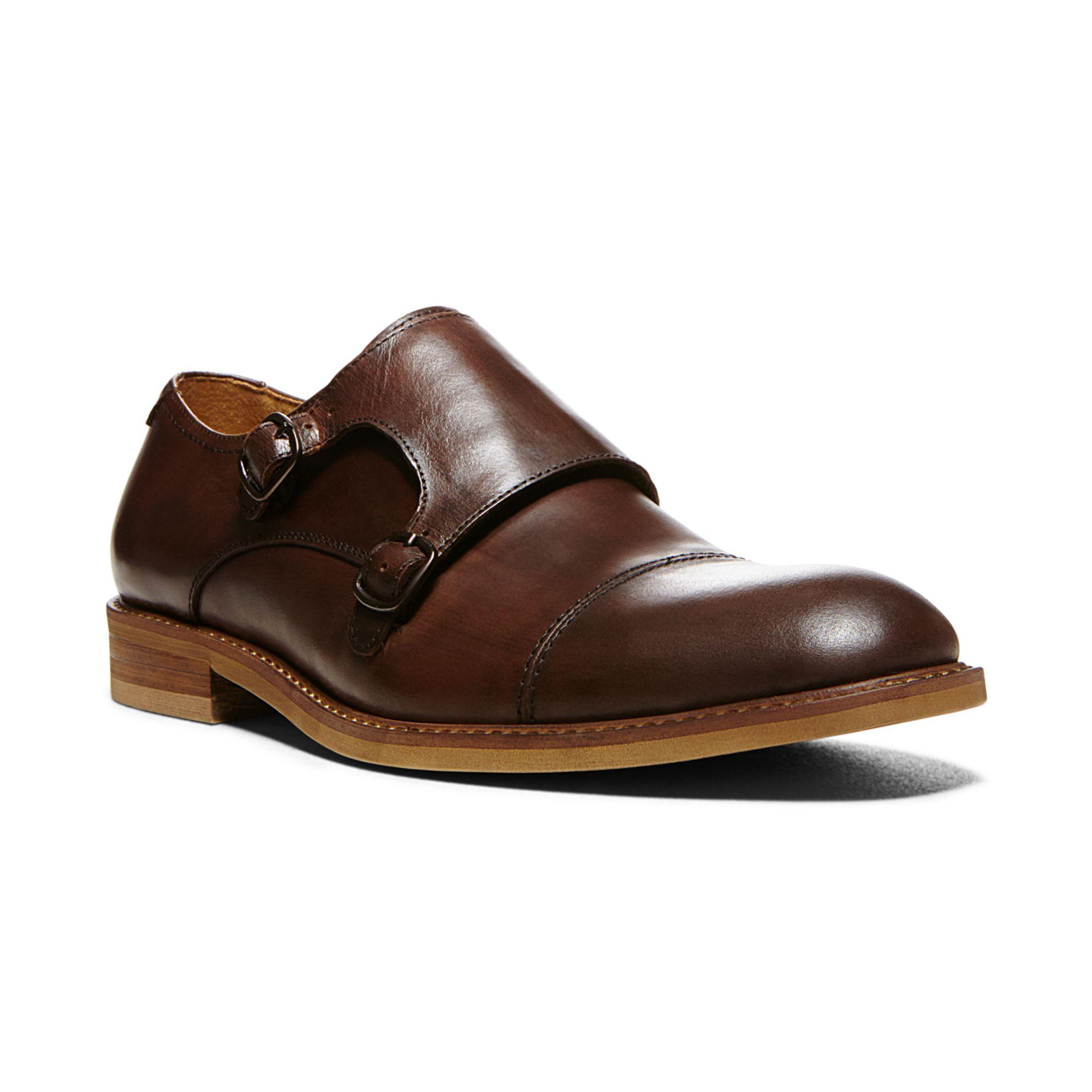 Mens leather gloves boss - Steve Madden Runnit Monk Strap Shoes In Brown For Men Lyst