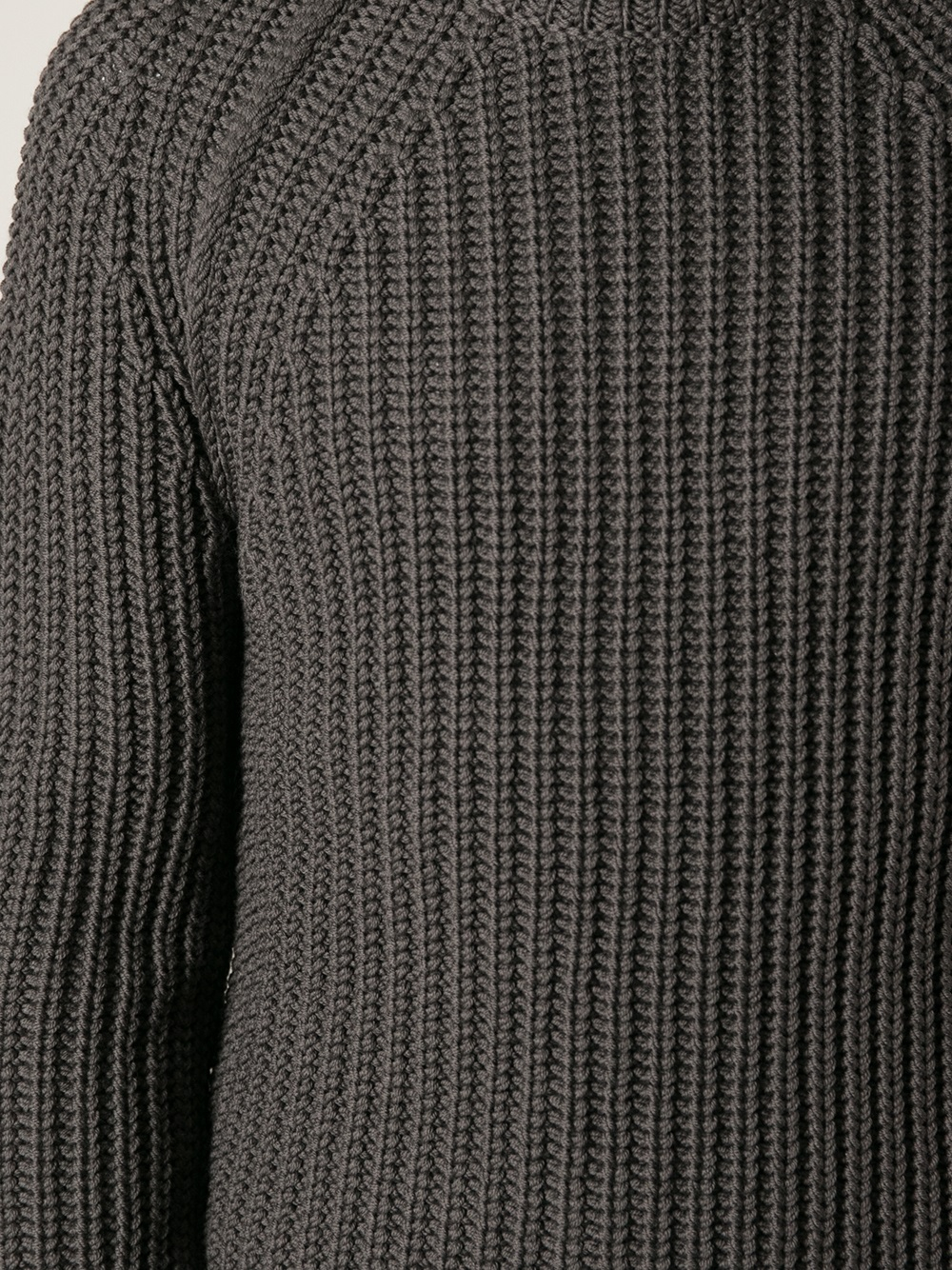 Lanvin Thick Ribbed Sweater in Gray for Men | Lyst