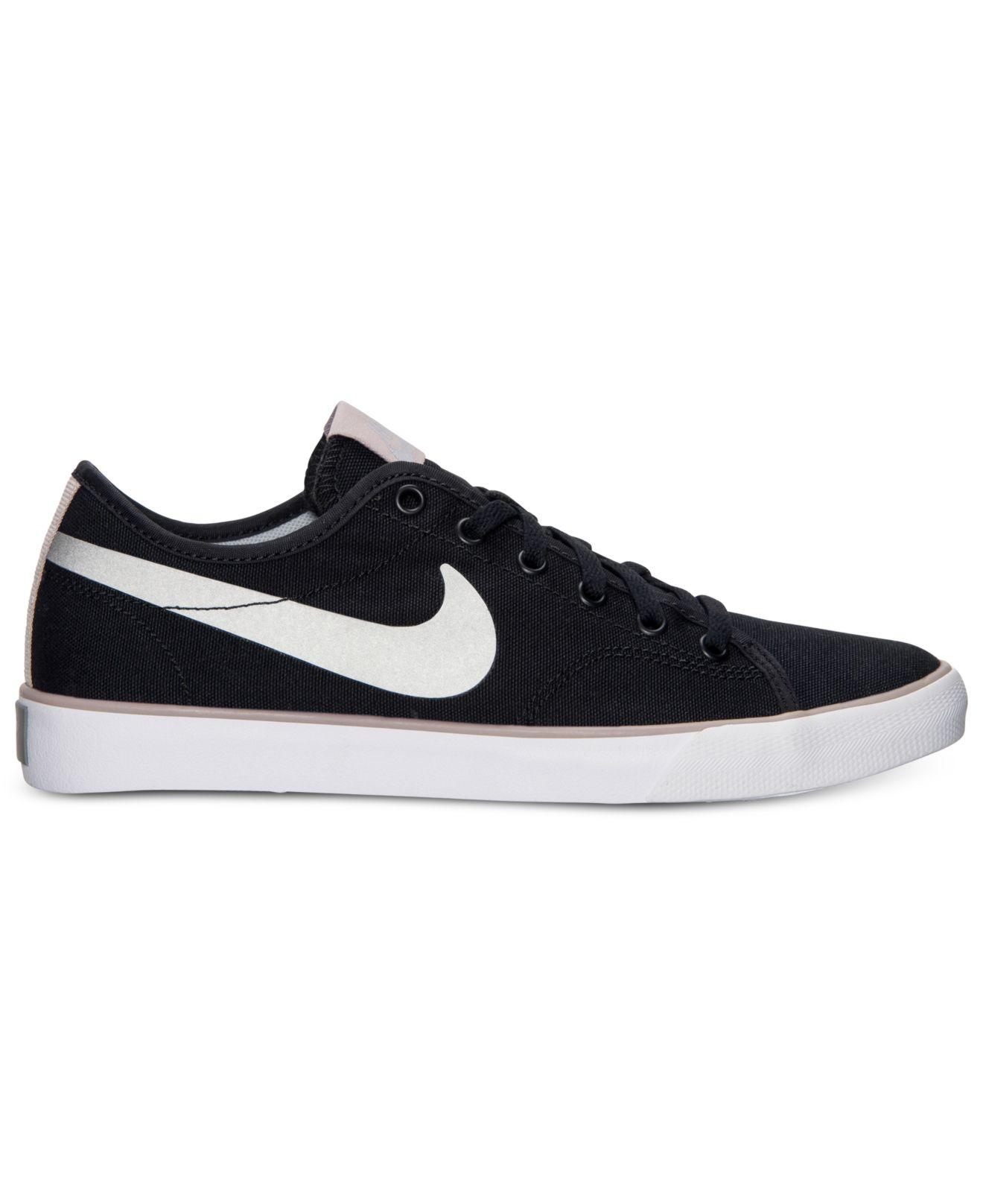 Nike Primo Court Black Canvas Shoes  Women