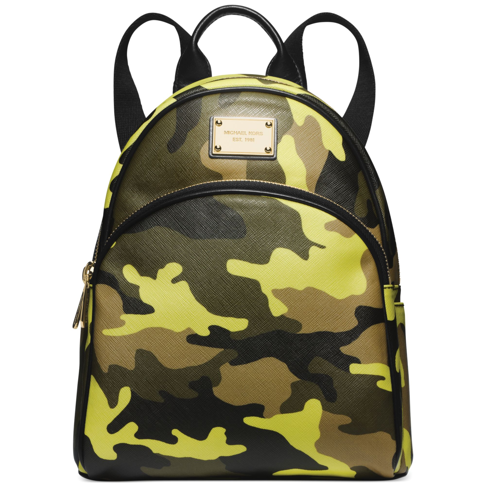 michael kors michael small camo backpack in green acid. Black Bedroom Furniture Sets. Home Design Ideas