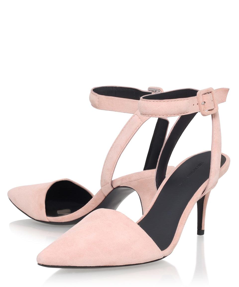 Wedding Blush Heels alexander wang blush pink suede lucie 65 heels in lyst gallery