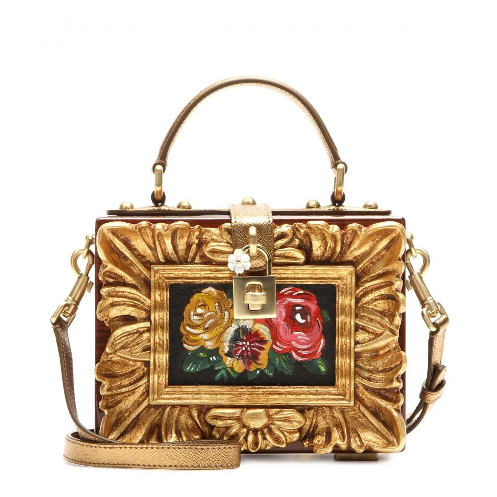 a12b18723739 Lyst - Dolce   Gabbana Dolce Embellished Wooden Shoulder Bag