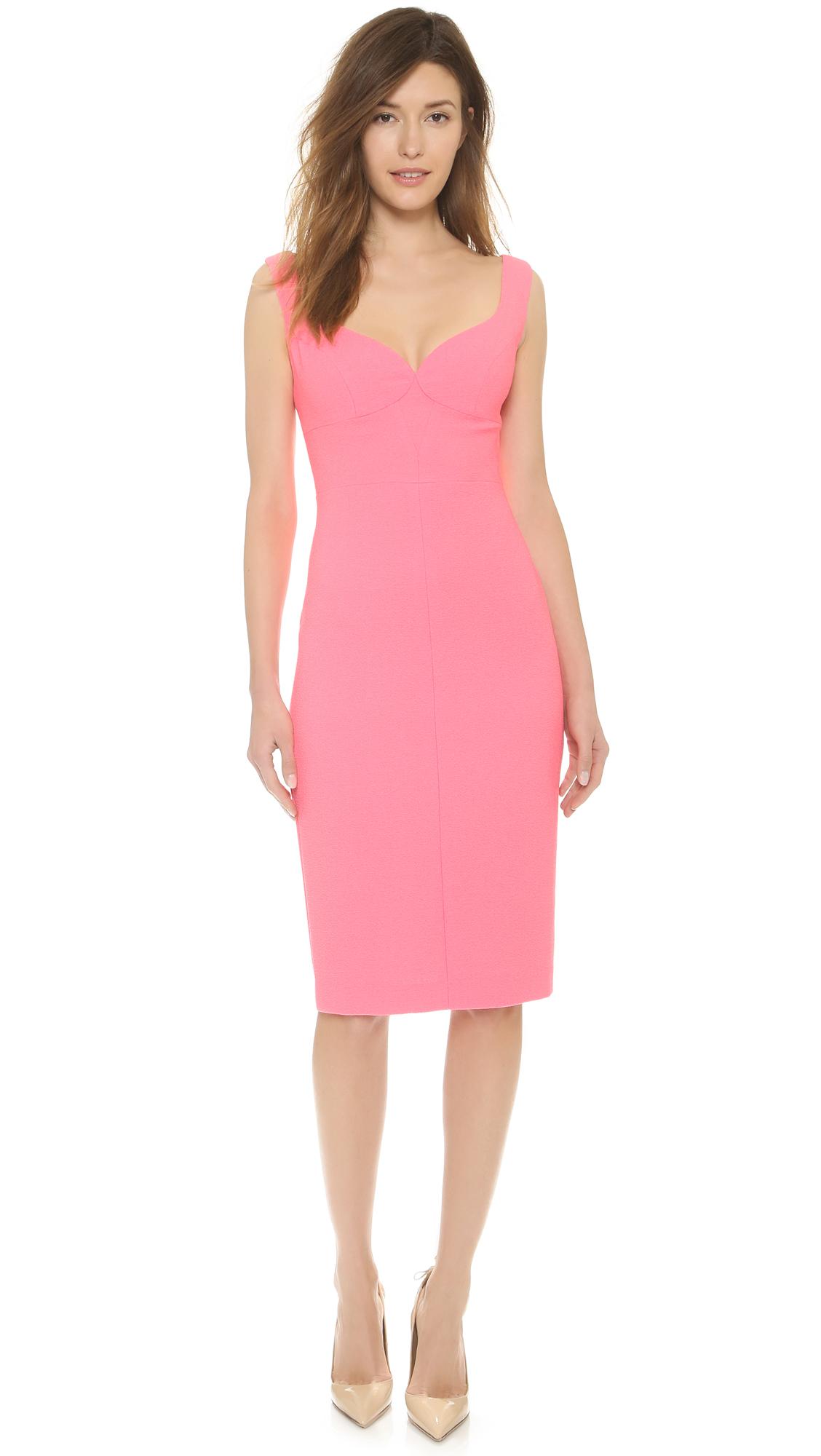 b225fd1f6dd Black Halo Ally Sheath Dress Pink Freeze In Lyst