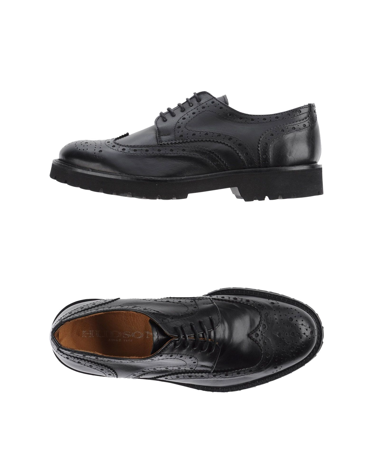 hudson lace up shoes in black for lyst