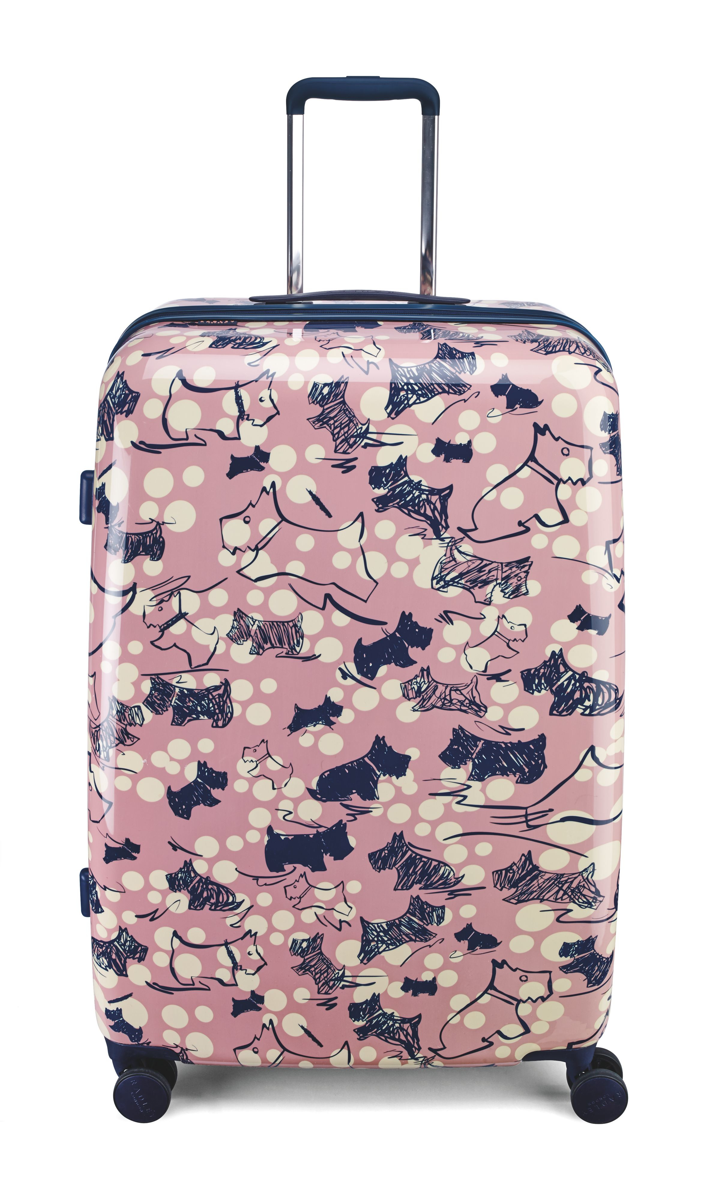 Radley Cherry Blossom Dog 4 Wheel Large Suitcase In Pink