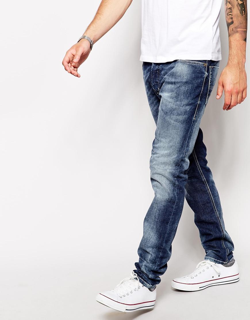 4089fc7043728e DIESEL Jeans Tepphar 827I Skinny Fit in Blue for Men - Lyst