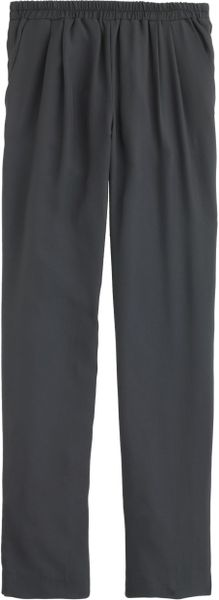 J.crew Paley Pant In Pinstripe Super 120S Wool in Gray (charcoal)