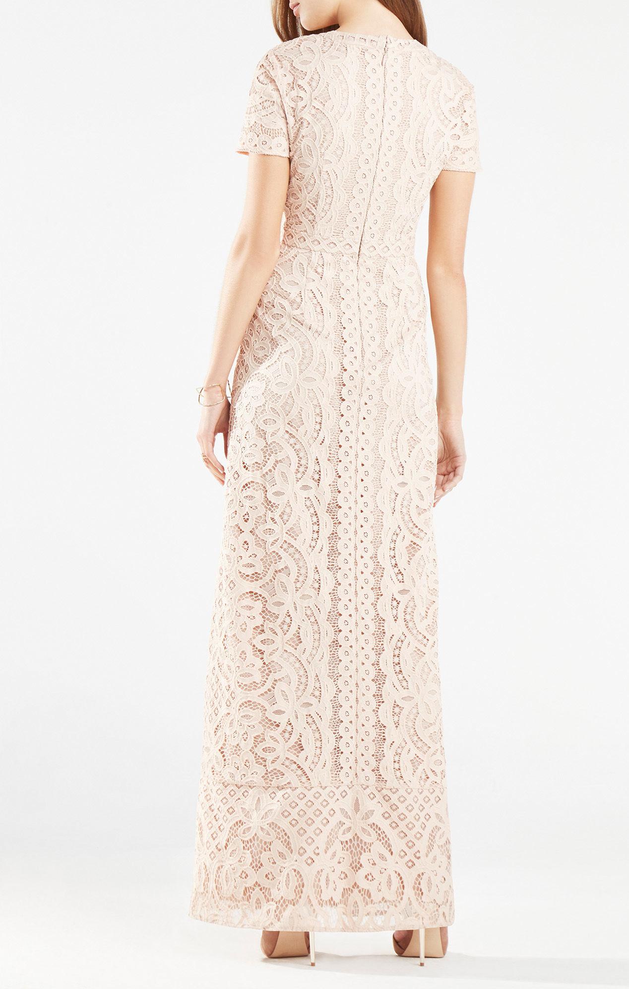 27c6912f8d231 Lyst - BCBGMAXAZRIA Cailean Floral Lace Gown