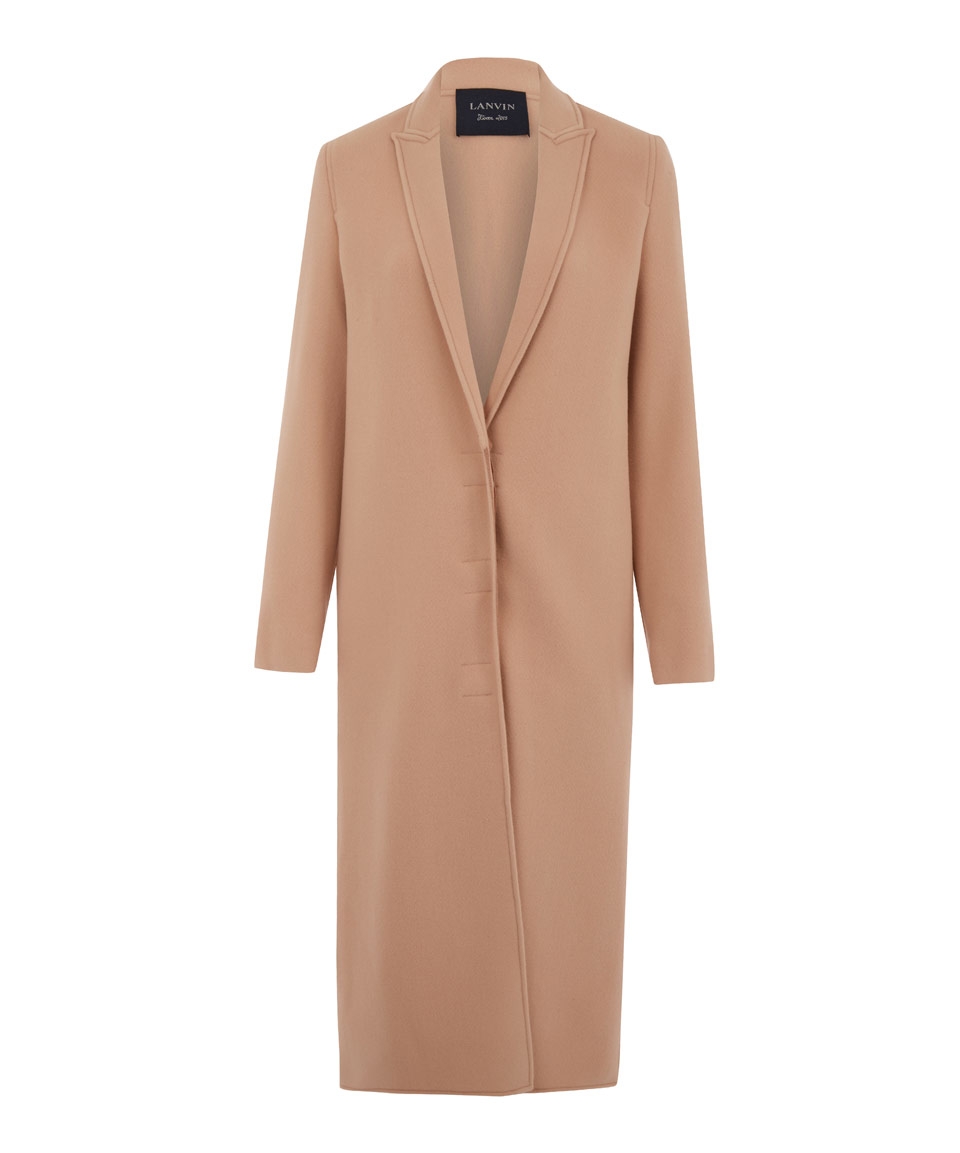 light pink coat lyst lanvin light pink wool coat in pink 948