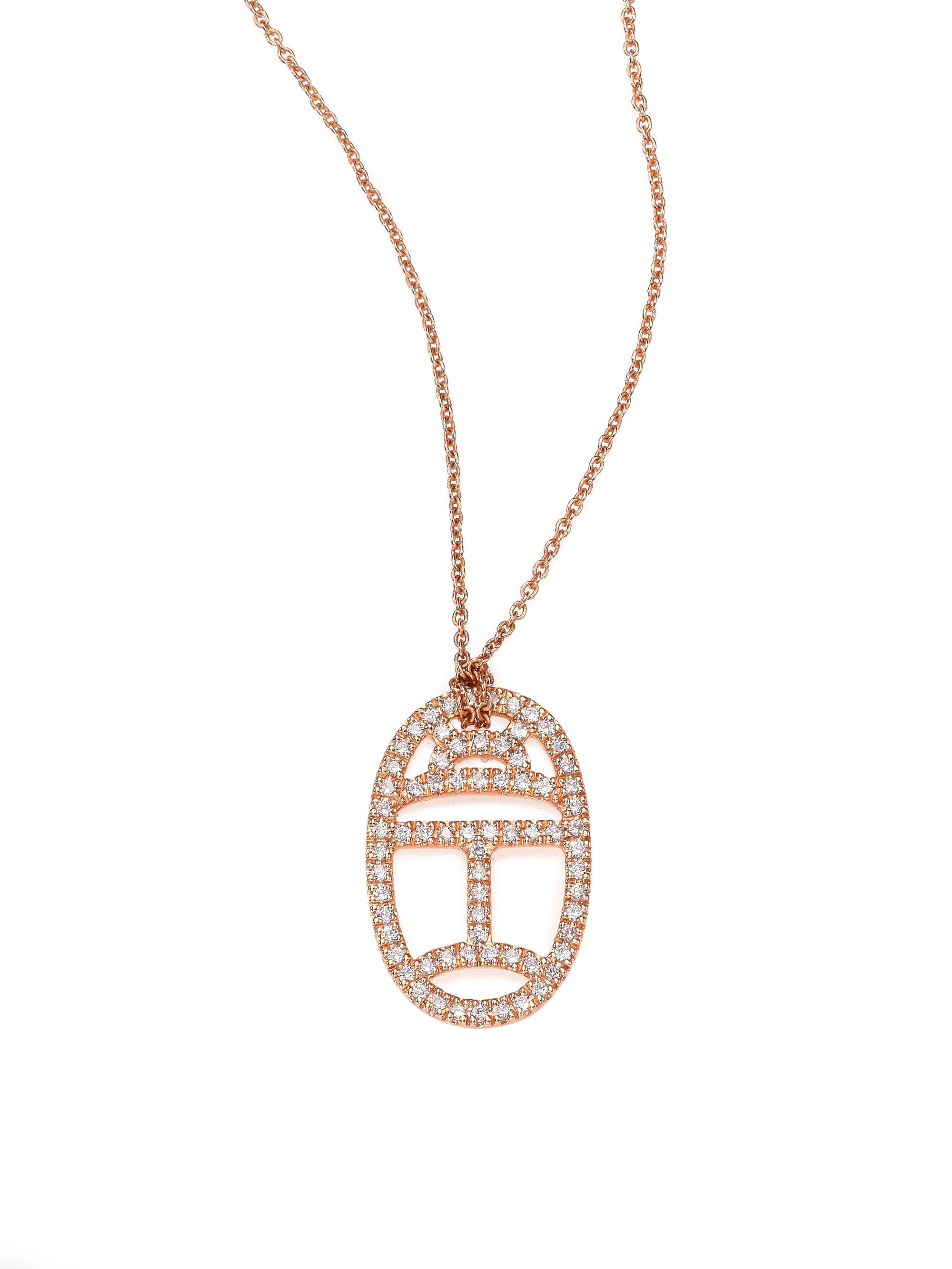 Tiny Diamond Heart Necklace in 18K Rose Gold and Diamonds Ginette NY sZo3NbTr