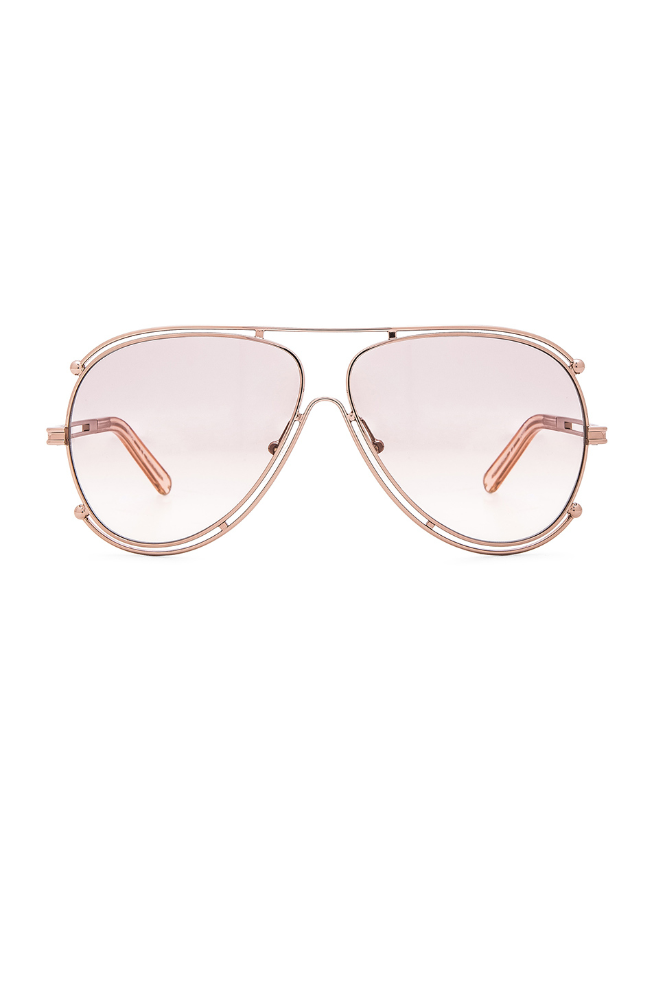 4e280aac34b4a Lyst - Chloé Isadora Aviator Sunglasses in Pink