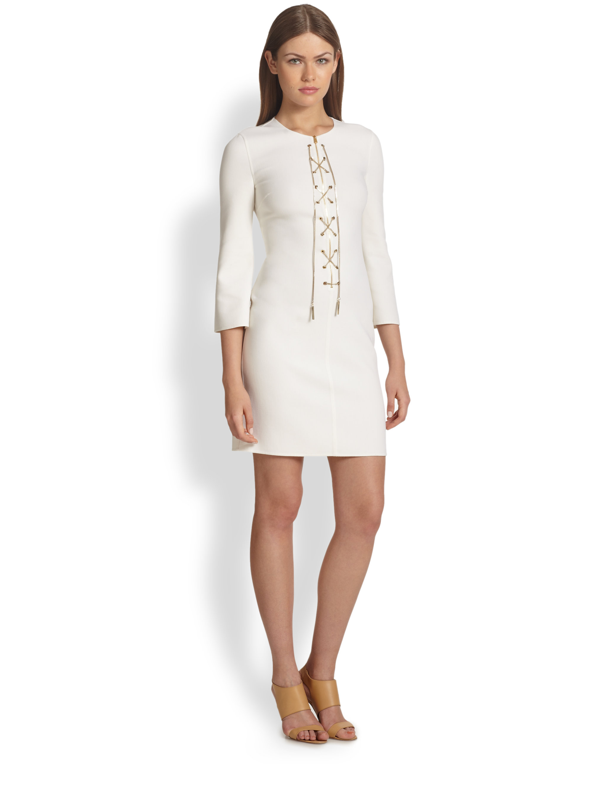 Michael kors white dress images