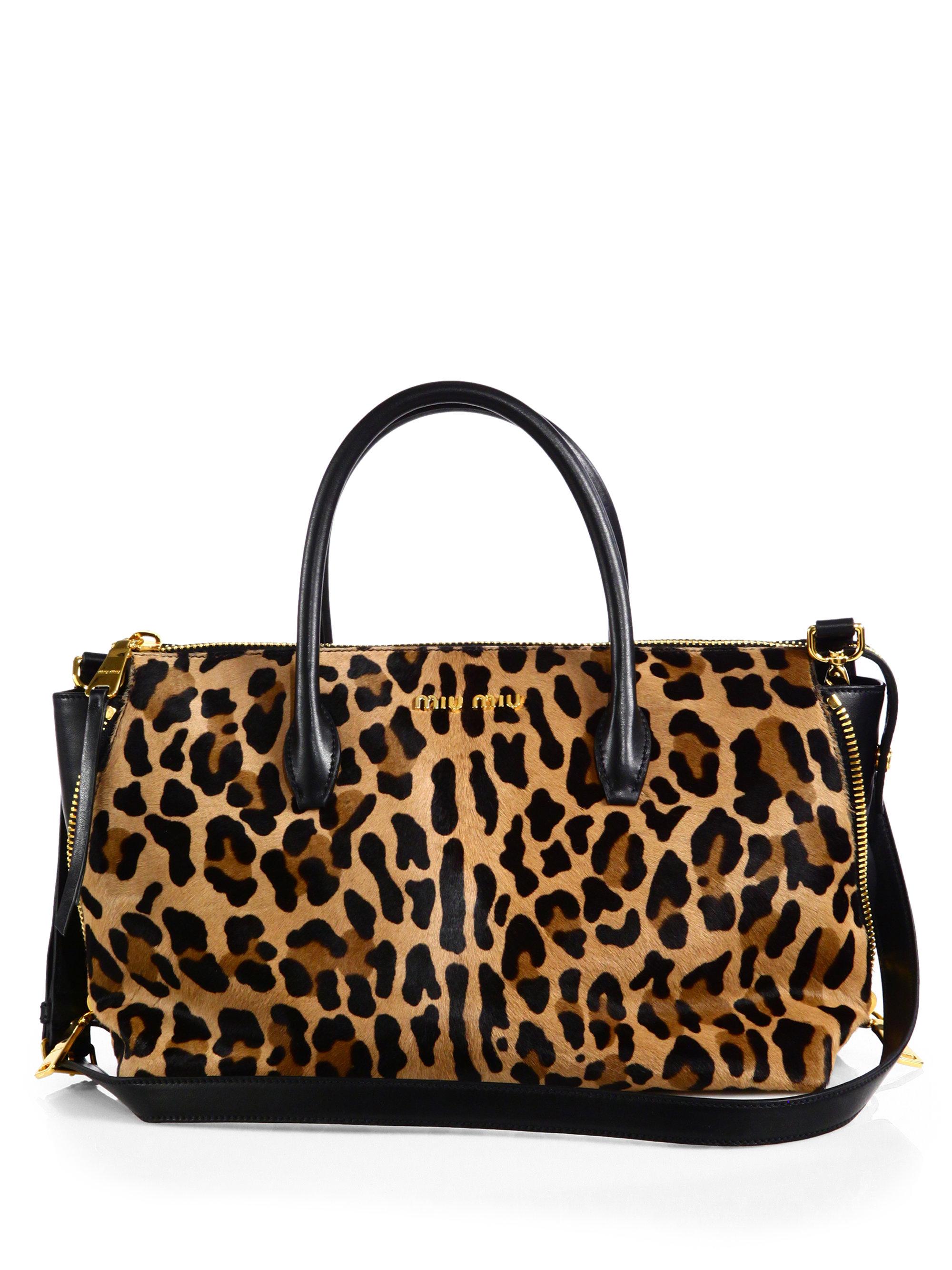 Miu Miu Cavallino Leopardprint Calf Hair Small Bowler Bag ...
