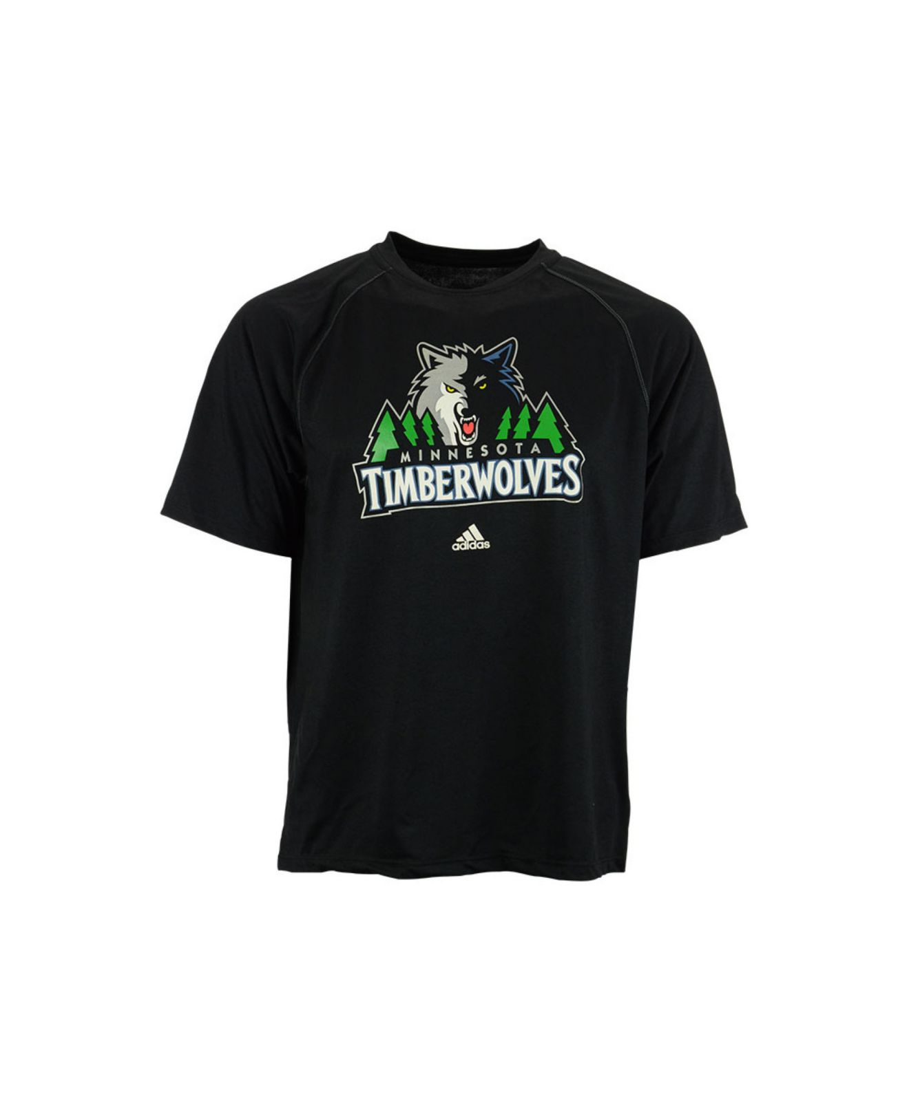 Adidas men 39 s minnesota timberwolves primary logo climalite for Timberwolves new logo shirt
