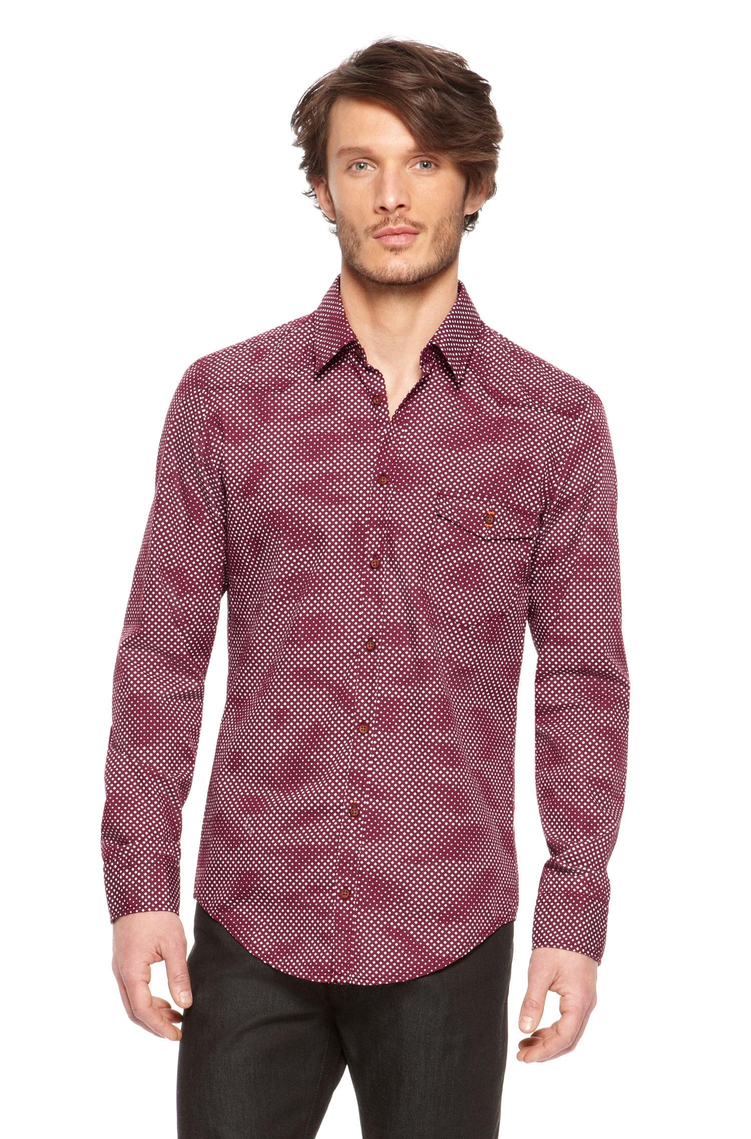 Boss Orange Epicoe Regular Fit Cotton Button Down Shirt