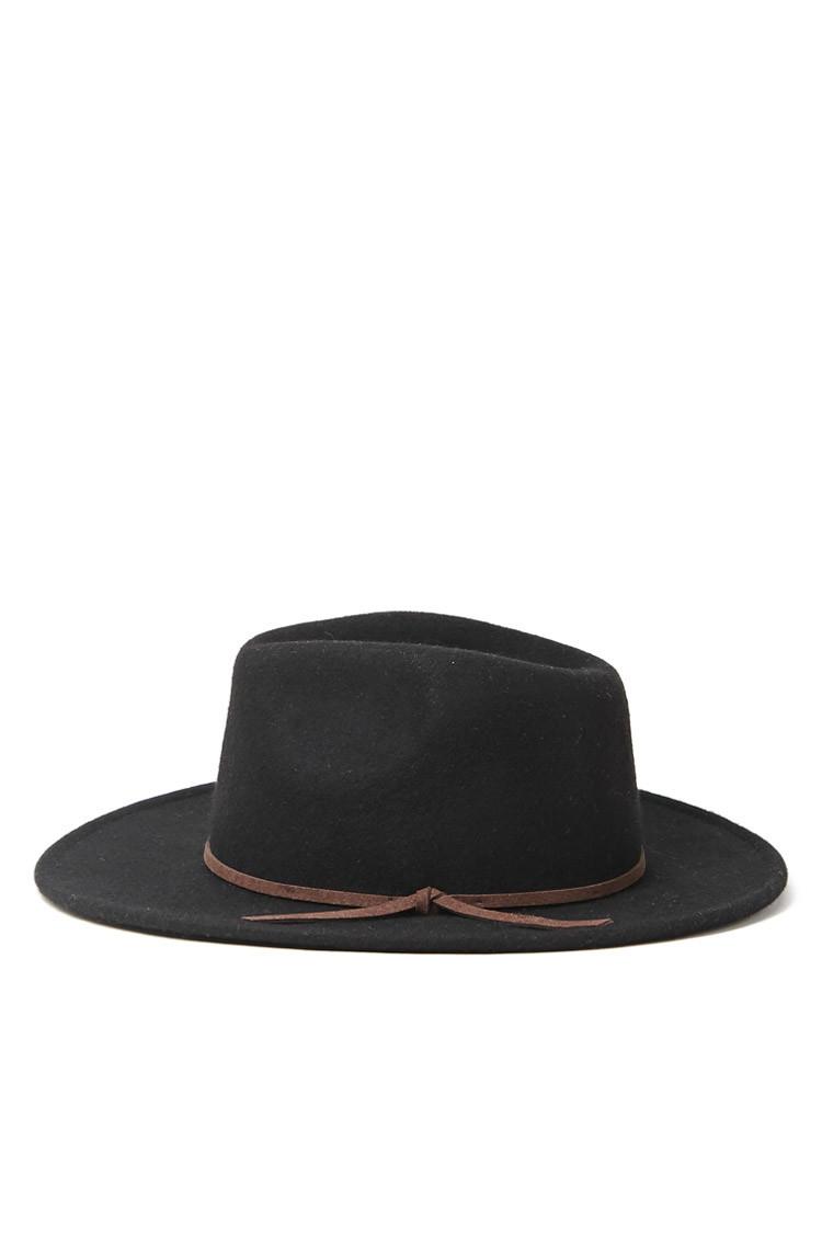 7cfc5f9a473e0 Forever 21 Men Wide-brim Wool Fedora in Black for Men - Lyst