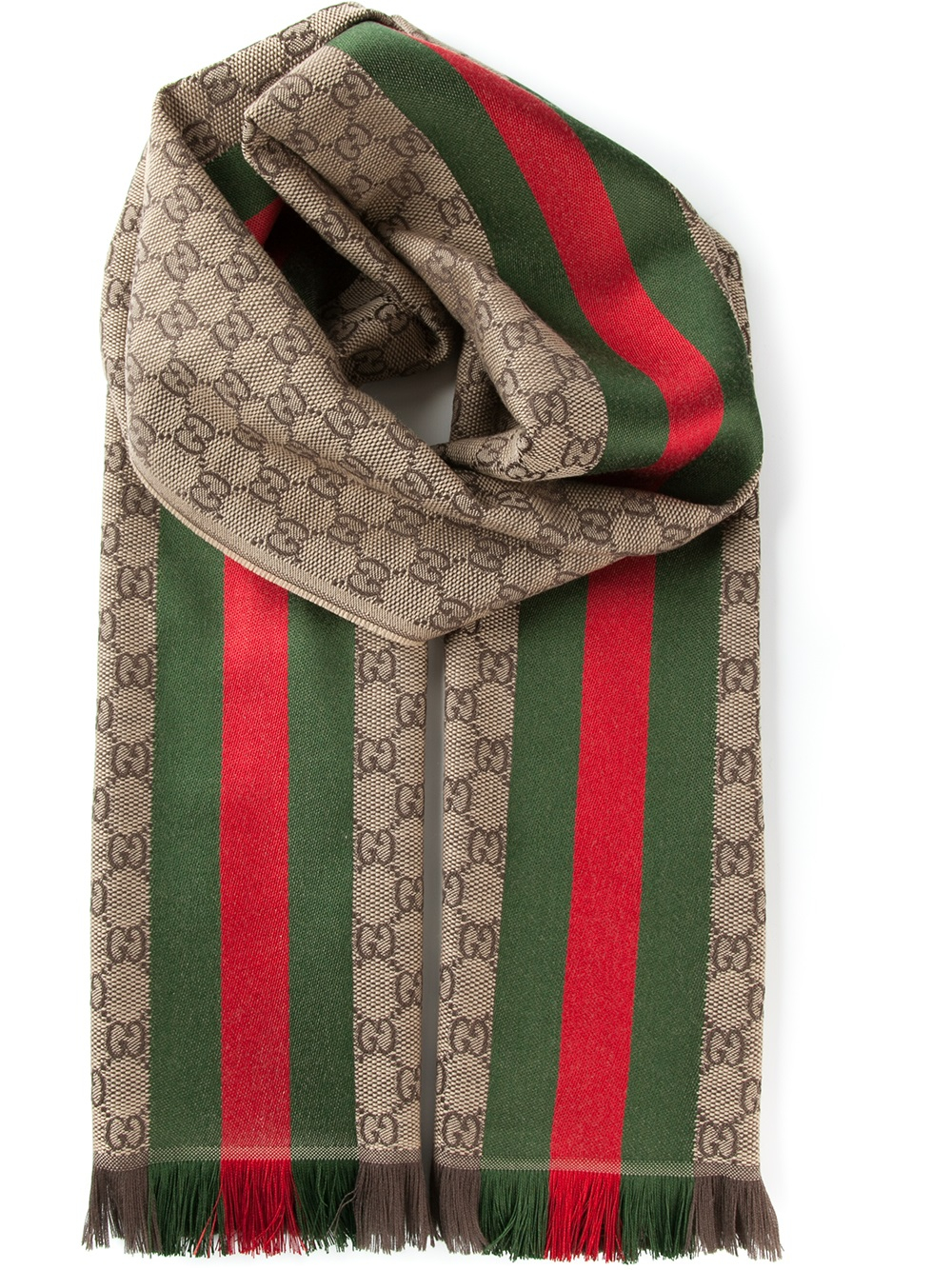 Lyst Gucci Monogram Scarf in Brown for Men