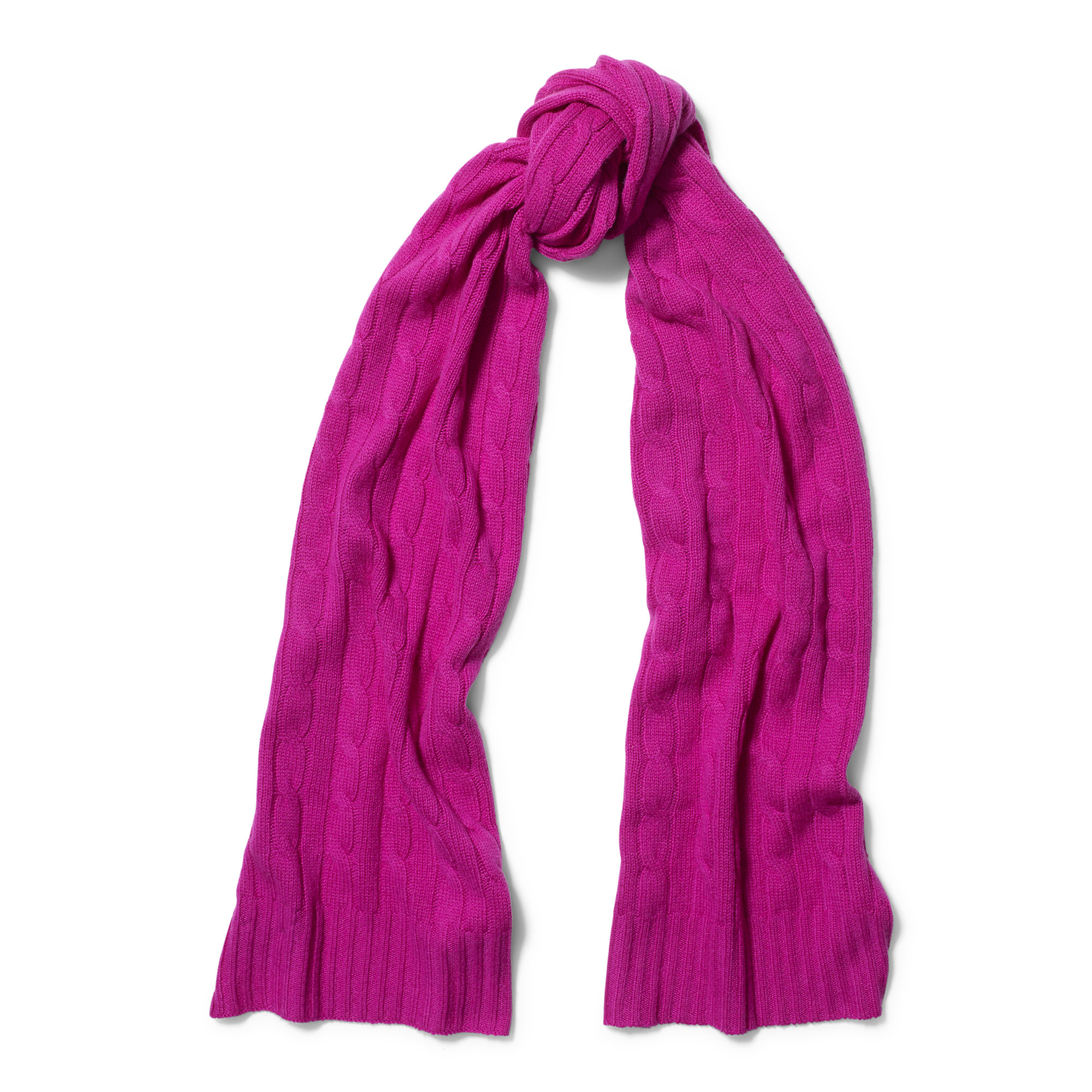 Polo Ralph Lauren Purple Cable-knit Cashmere Scarf Lyst