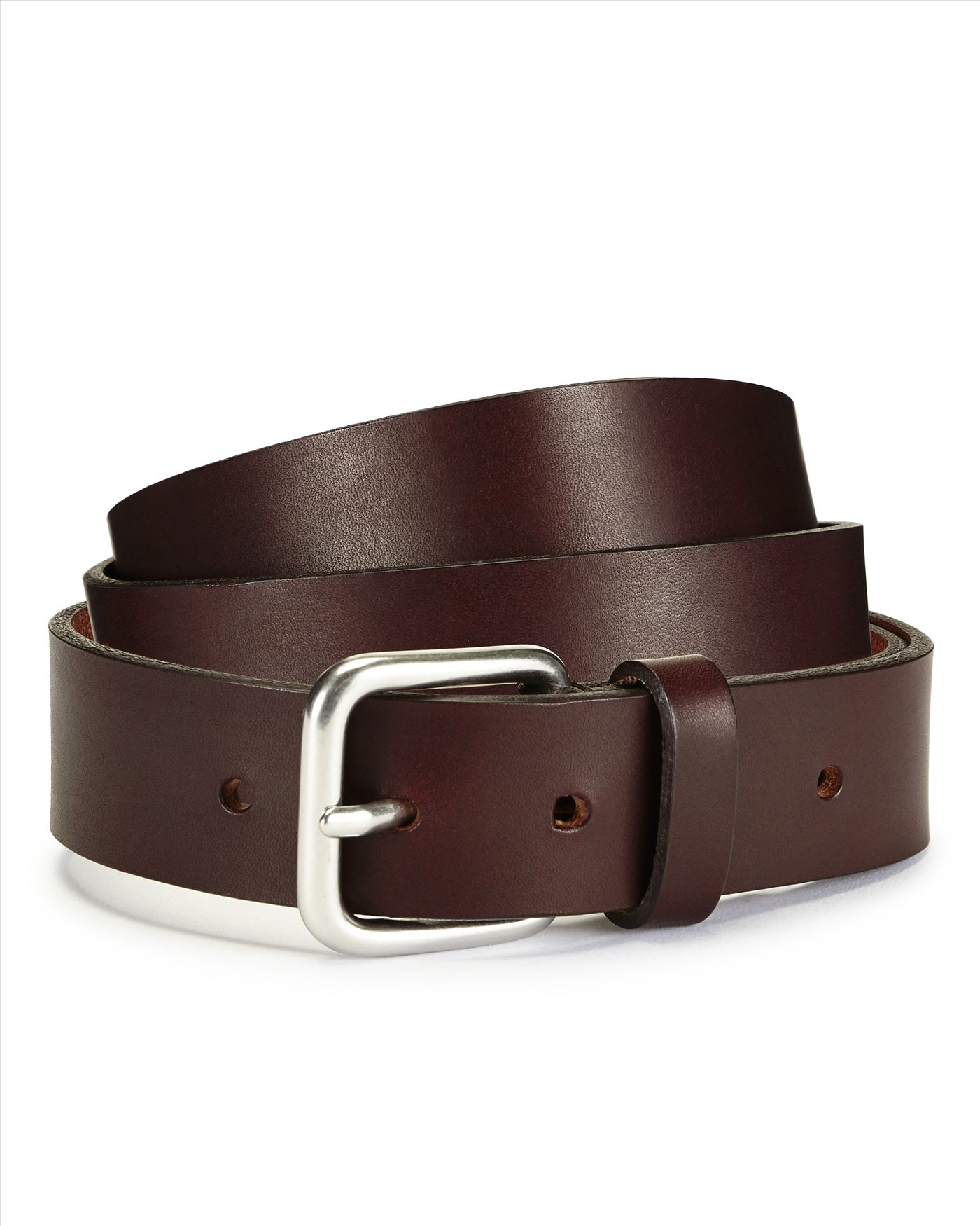 jaeger casual brown leather belt in brown for lyst