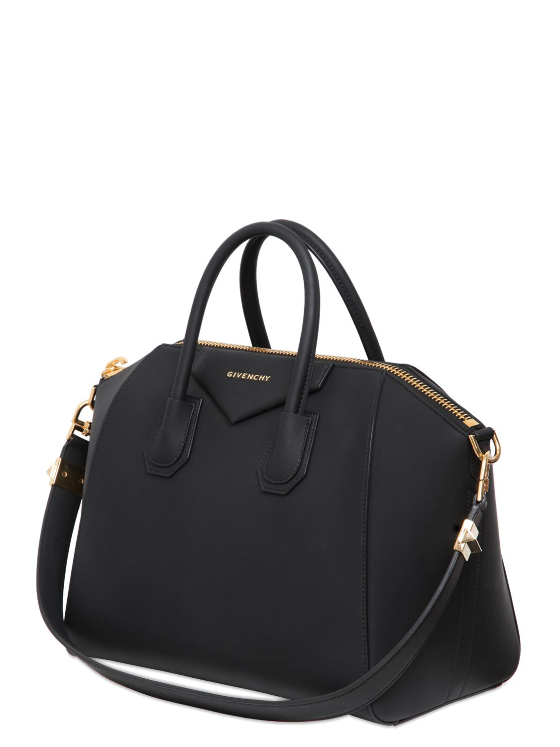 4aaa844e50 Givenchy Medium Antigona Rubber Effect Bag in Black - Lyst