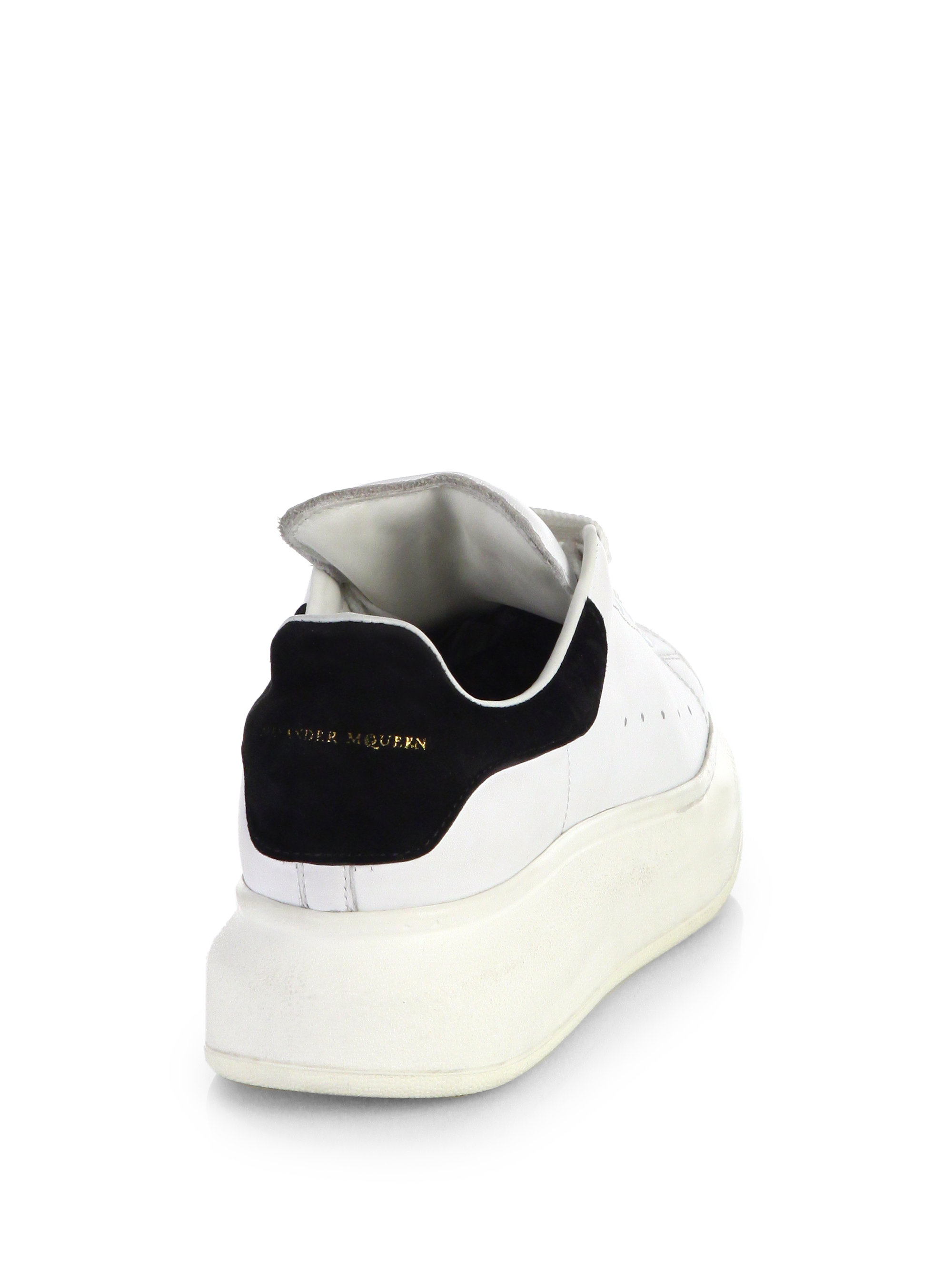6cdc6690e210 Lyst - Alexander McQueen Leather Platform Sneakers in White