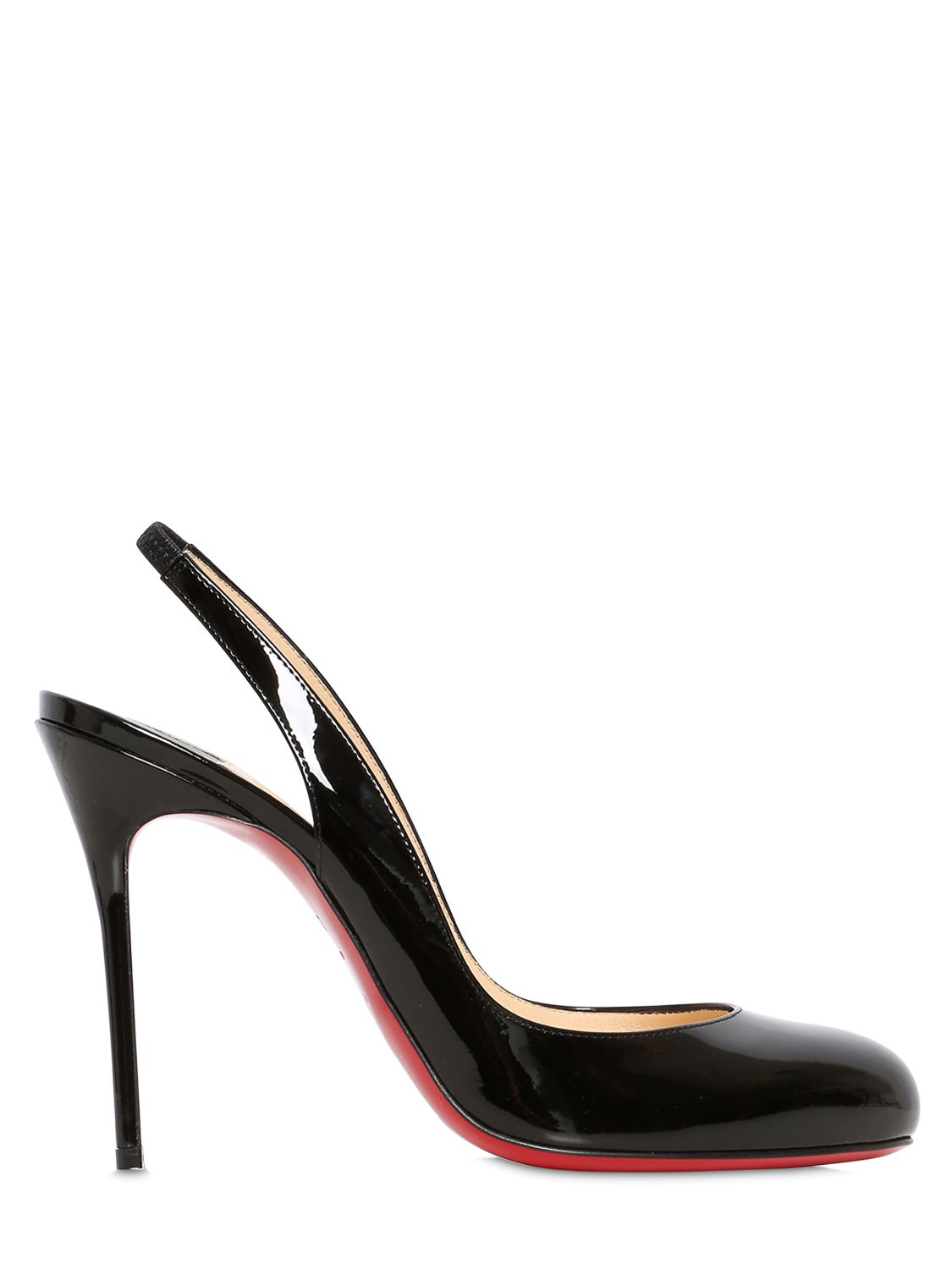 Christian louboutin Fifi Patent Leather Slingback Pumps in Black ...