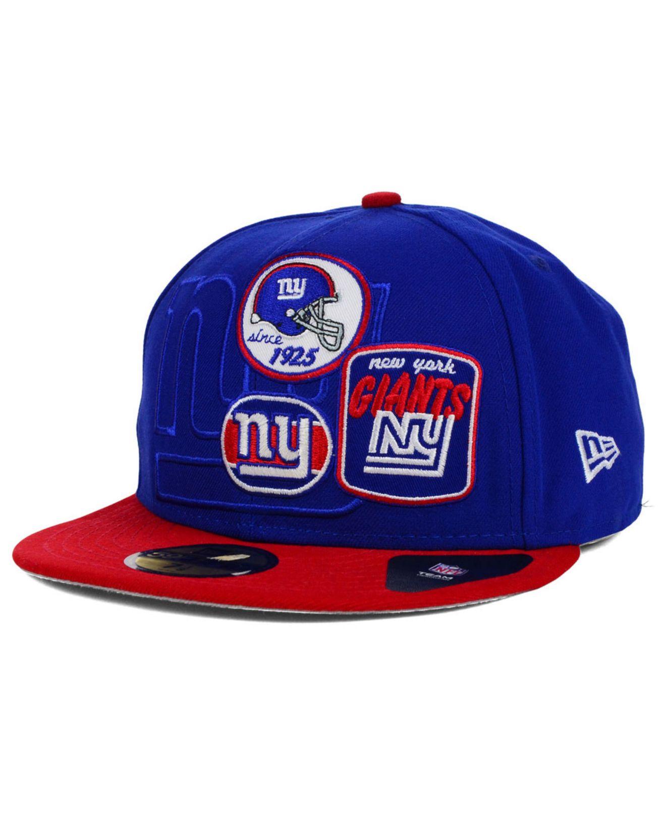 new concept bc88f e8928 ... norway lyst ktz new york giants patch batcher 59fifty cap in blue for  men 1b8fa 24d2a
