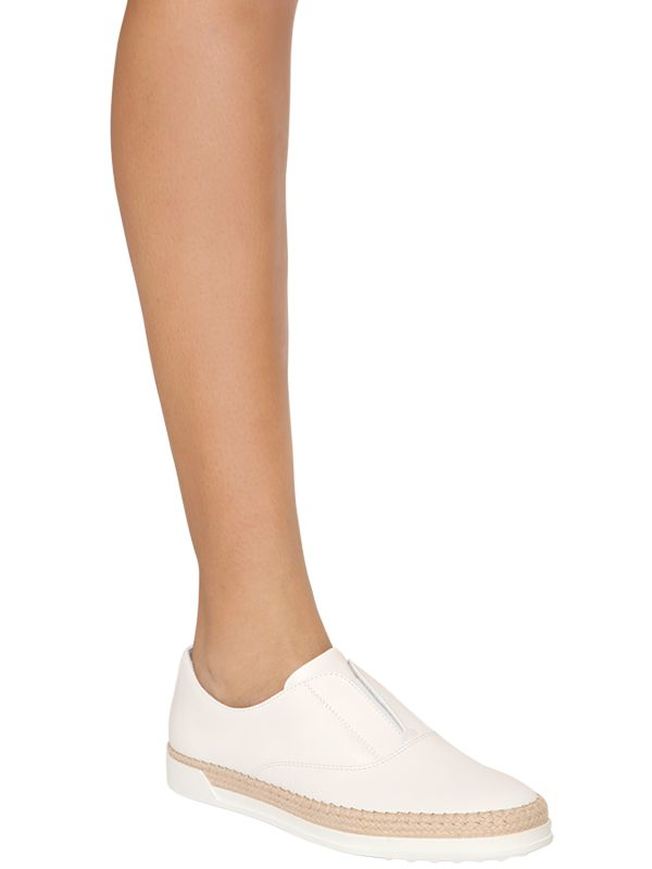 Tod's Slip-On Leather Espadrilles mzHvf88