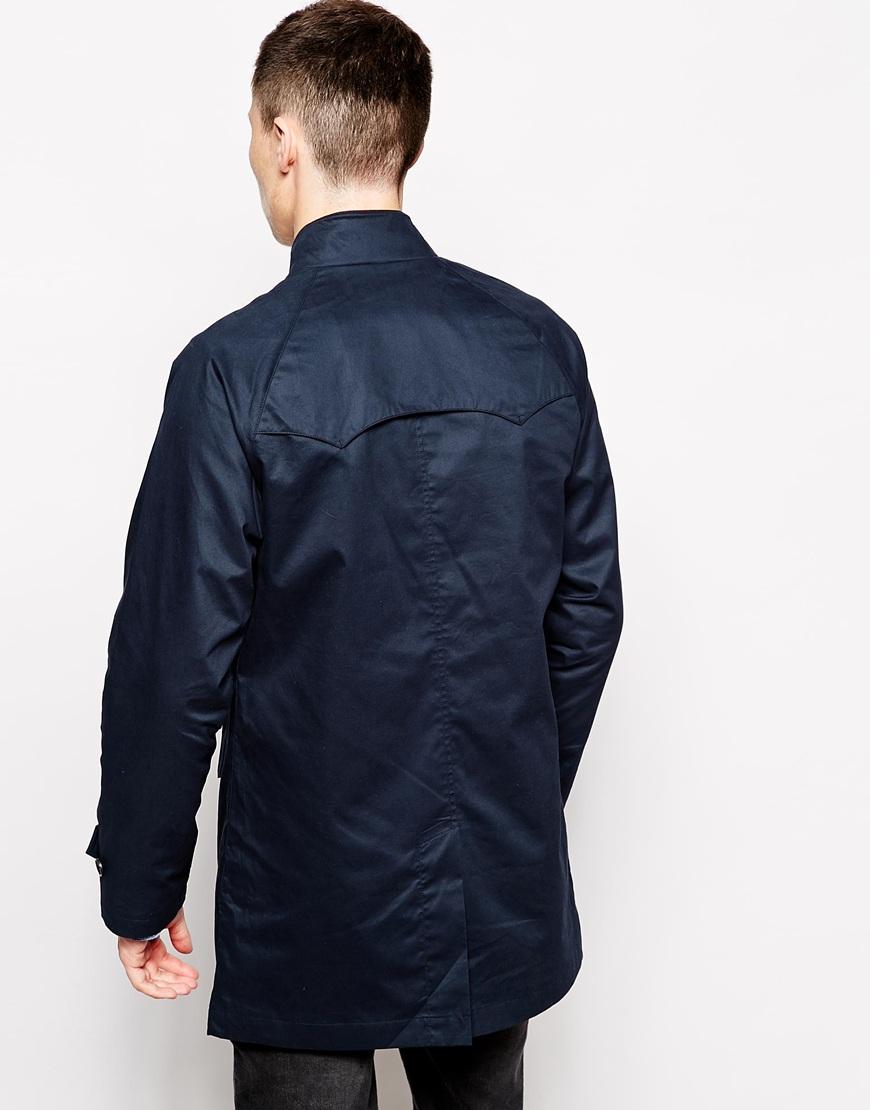 ben sherman harrington mac jacket in blue for men lyst. Black Bedroom Furniture Sets. Home Design Ideas