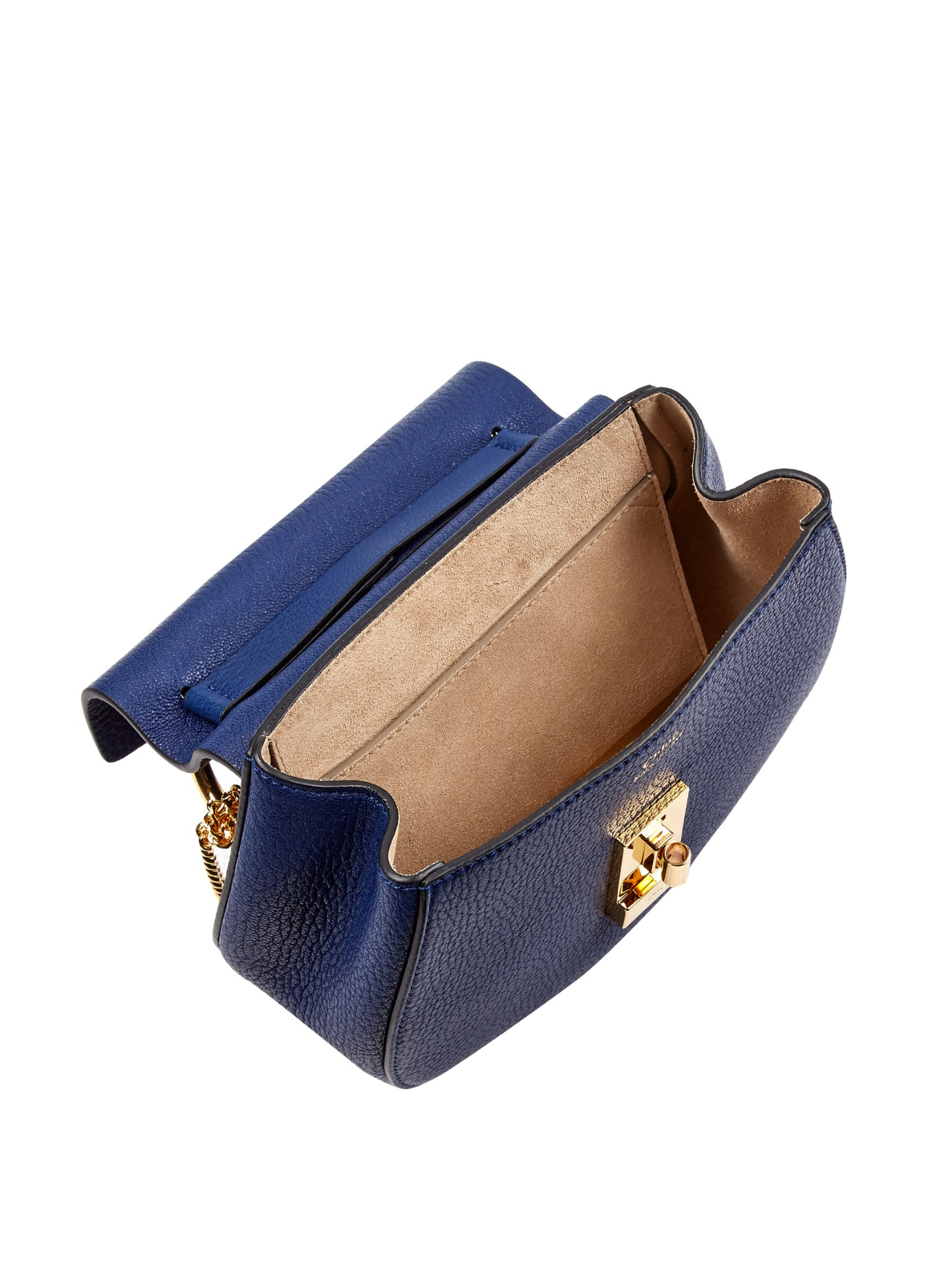 chloe marcie small leather crossbody bag - Chlo�� Drew Mini Leather Cross-Body Bag in Blue (NAVY) | Lyst