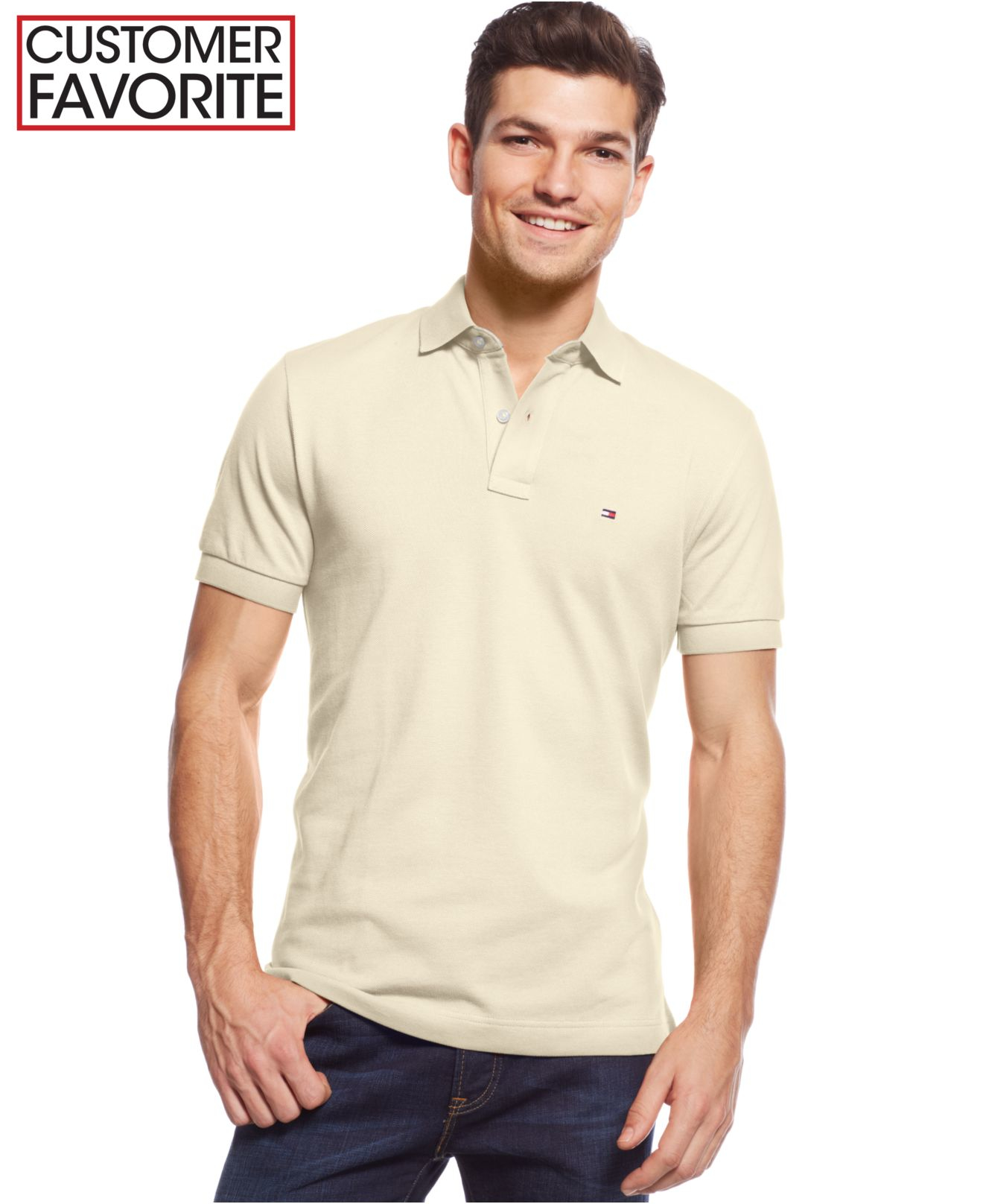 4f9dd9a2 Tommy Hilfiger Custom-fit Ivy Polo in White for Men - Lyst