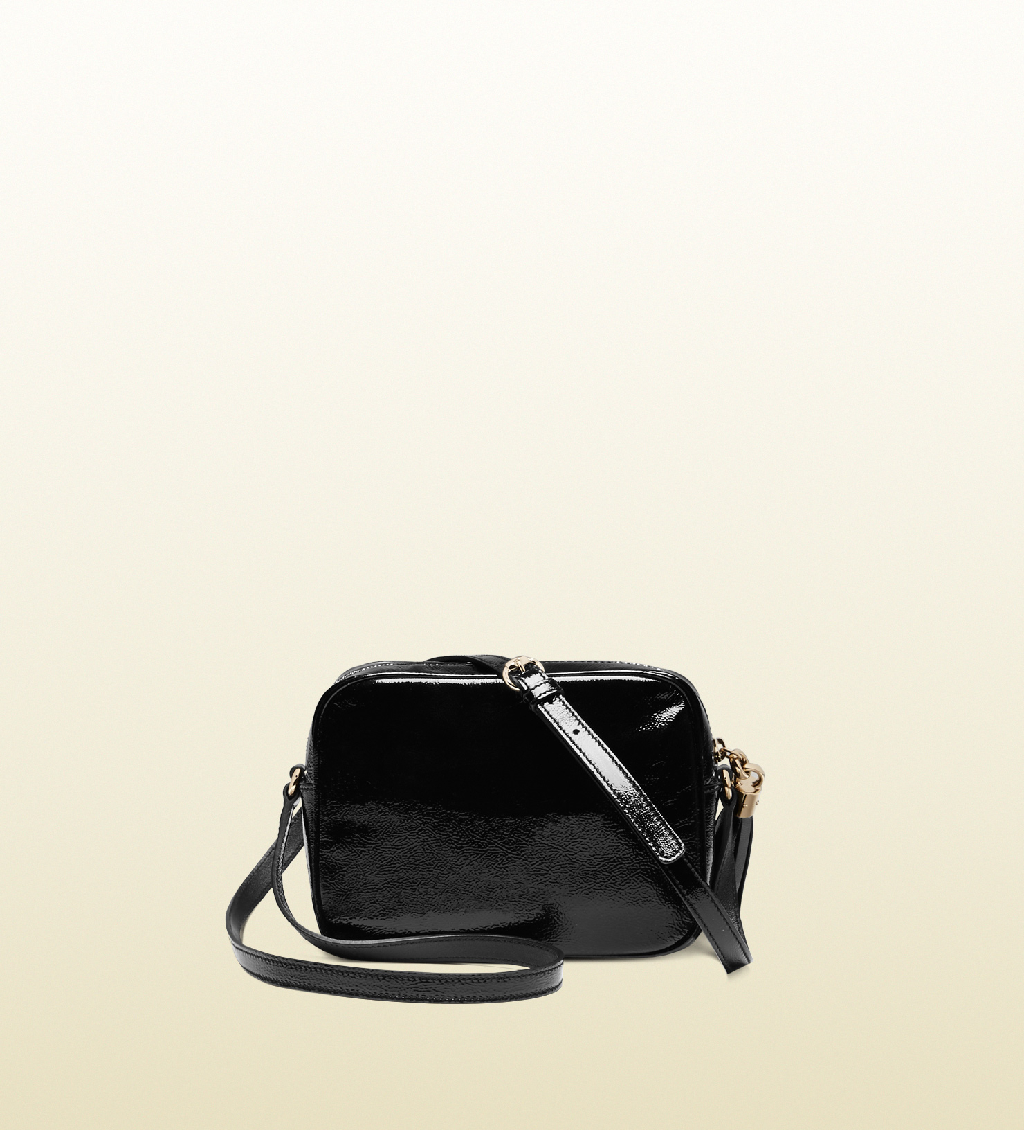 Lyst - Gucci Soho Soft Patent Leather Disco Bag in Black 5a5d2b7f9a899