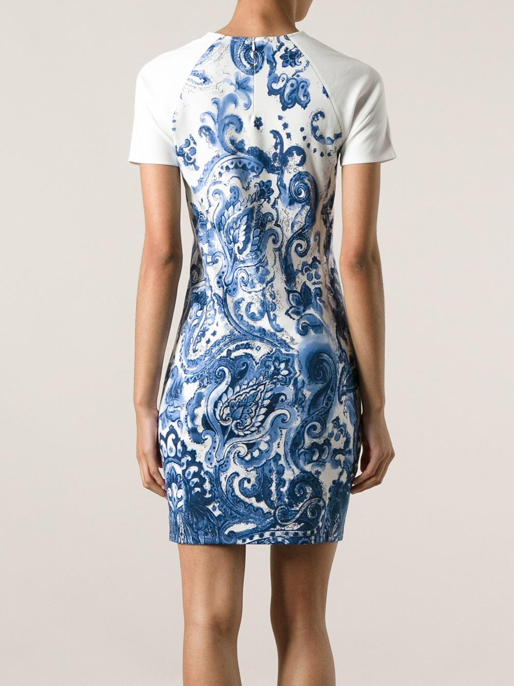 Lyst Ralph Lauren Black Label Fitted Floral Print Dress