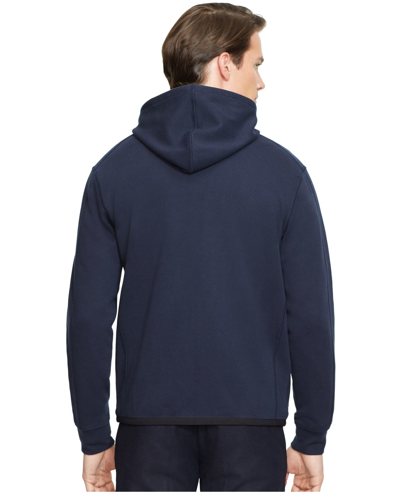 Polo Ralph Lauren Full-Zip French-Rib Darkblue Hoodie .