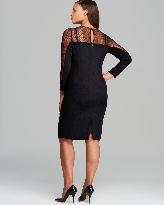 4138ddbd69 Marina Rinaldi Dalila Dress in Black - Lyst