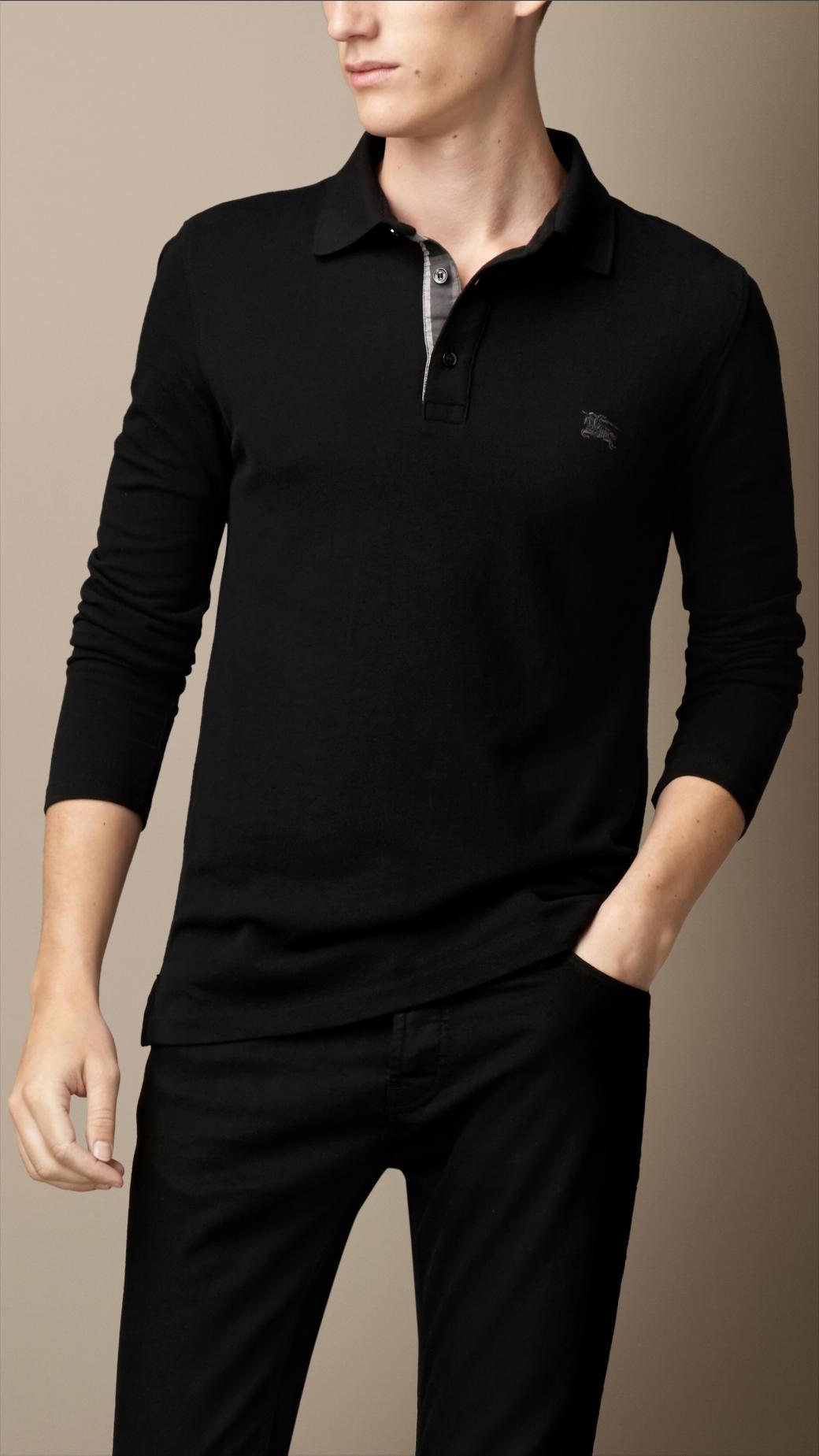 Mens Long Sleeve Polo Shirts 100 Cotton Joe Maloy
