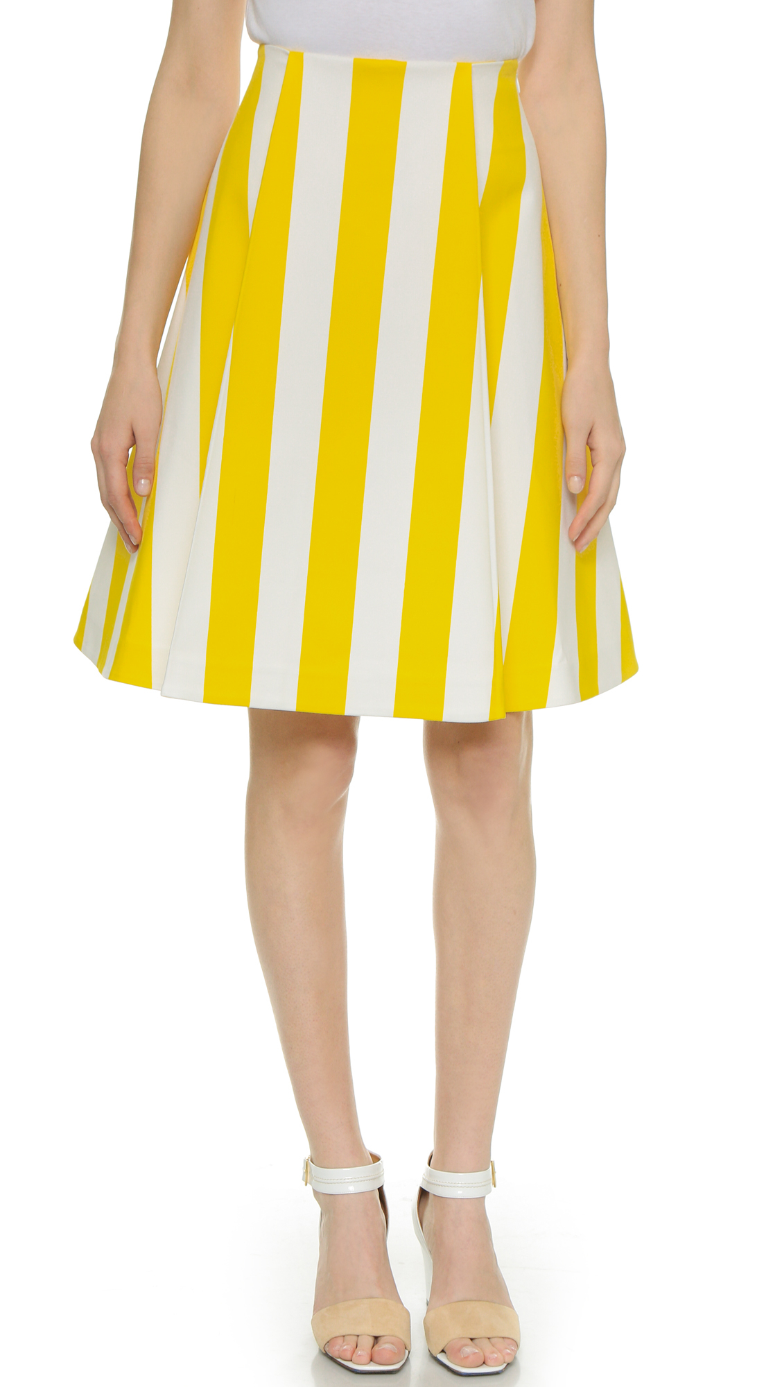 9d8ce4cc09 Jacquemus Striped Skirt - Yellow/White Stripes in Yellow - Lyst