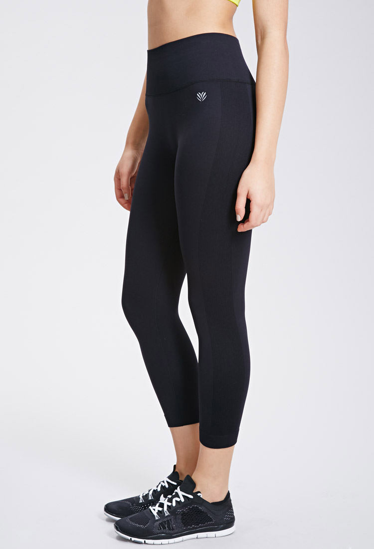 Forever 21 Active Seamless Athletic Capri Leggings in Black | Lyst