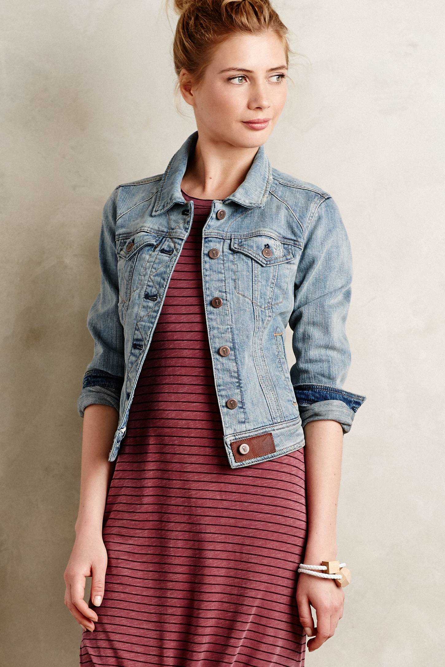 Pilcro Classic Denim Jacket in Blue | Lyst